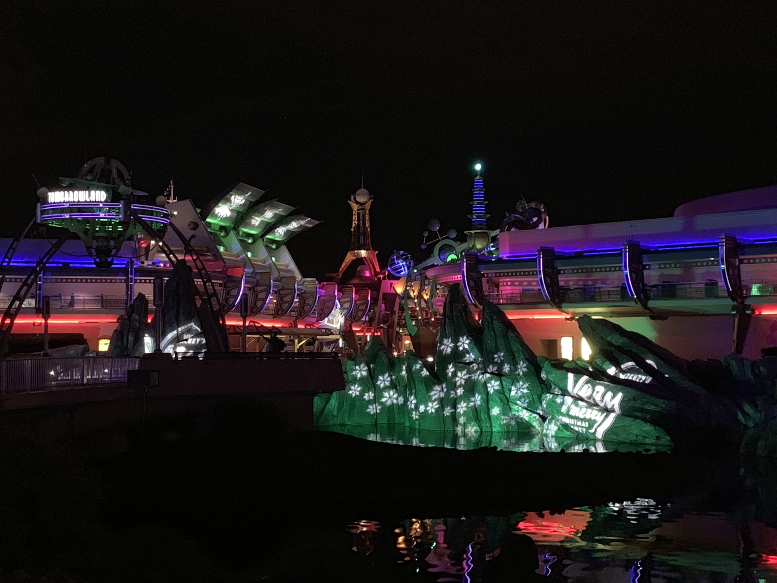 Loved how even Tomorrowland looked festive for the season!