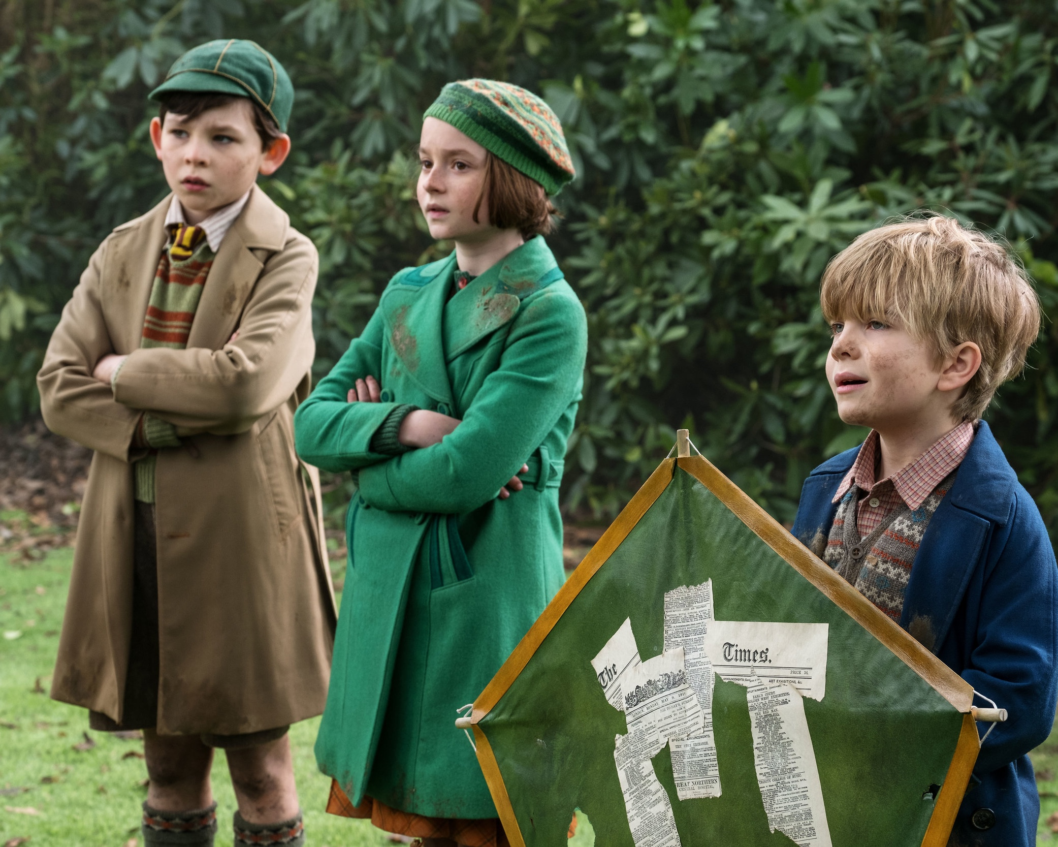 The next generation of Banks children: John (Saleh), Annabelle (Davies), and Georgie (Dawson).