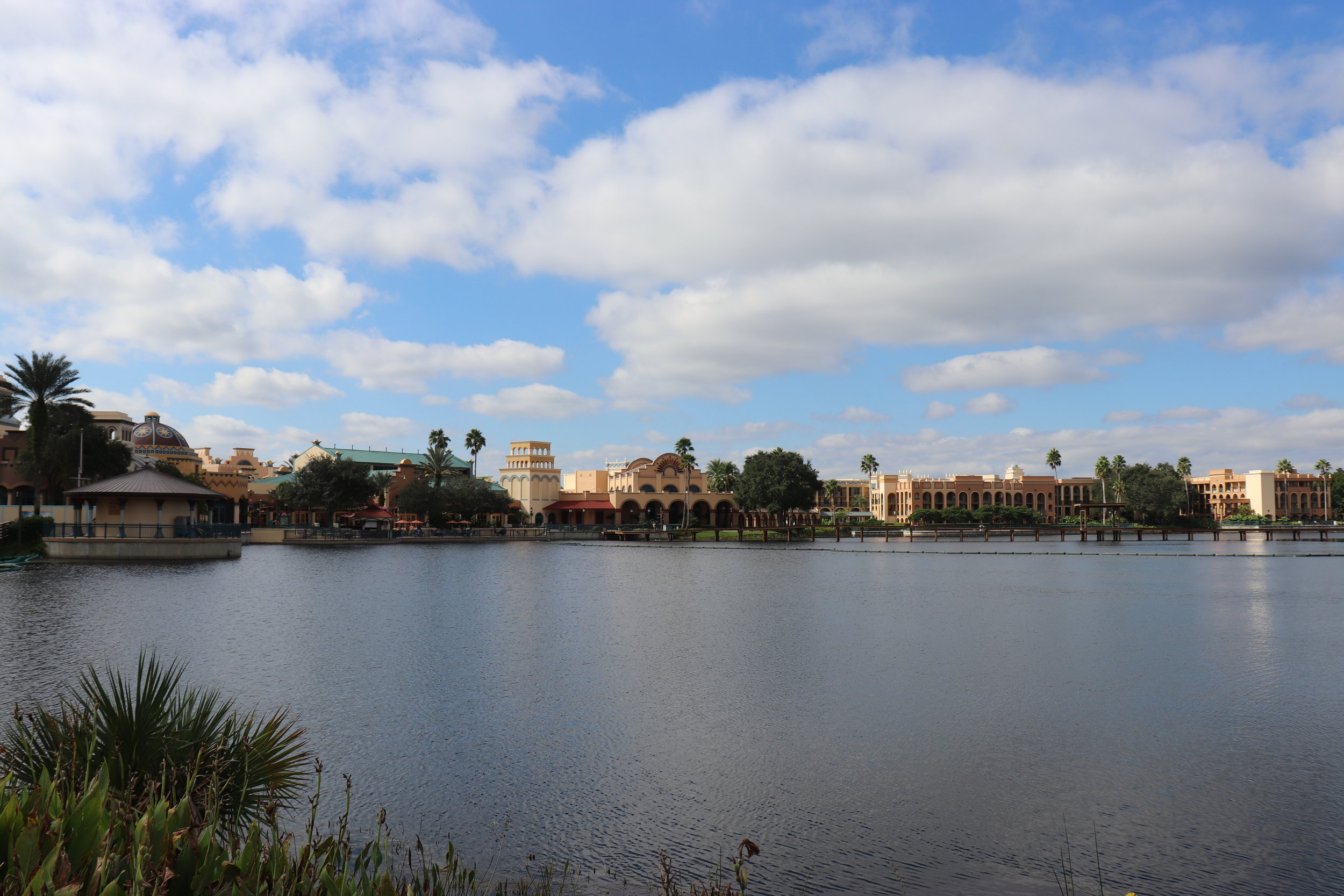 The lake and theming at Coronado Springs certainly is pretty.