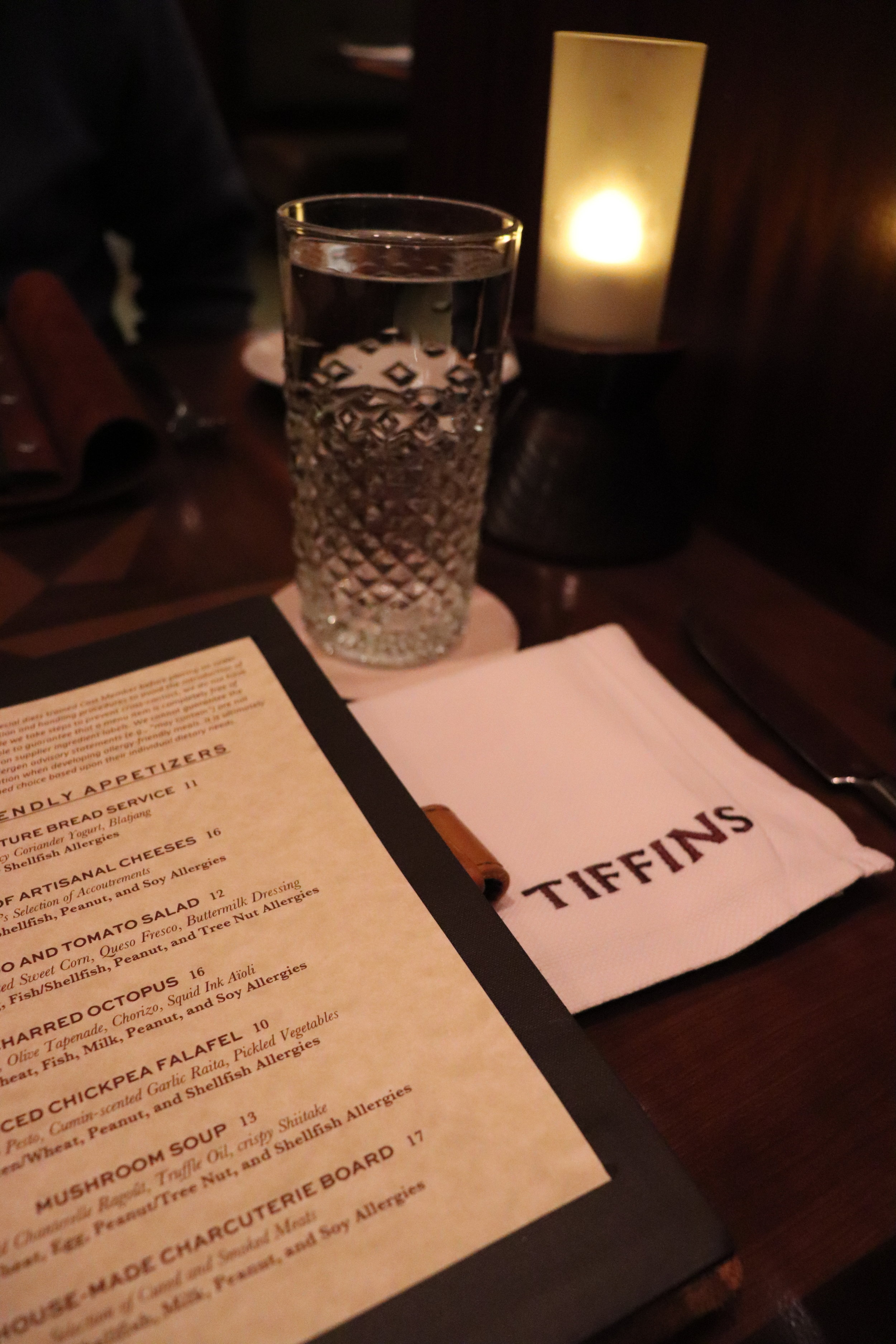 The ambiance of Tiffins is upscale and a nice escape from the parks for a bit.