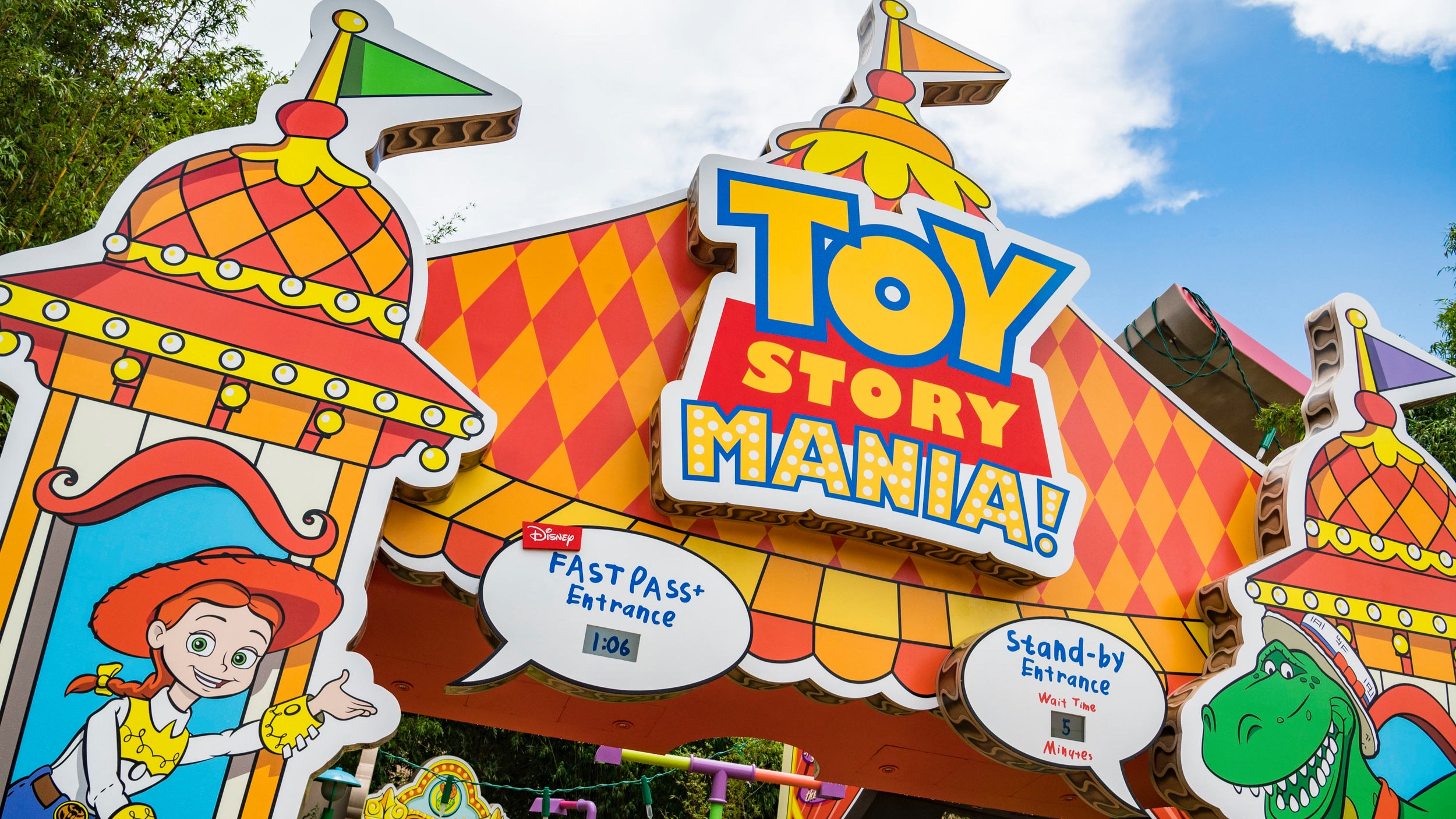 The new entrance to Toy Story Mania! (Photo: Disney)