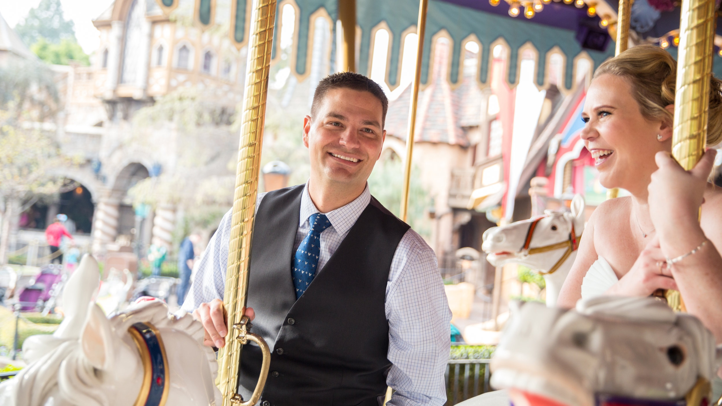 Celebrating our Anniversary at Disneyland. Photo: Ryan Hartford/ Ecliptic Media Photo