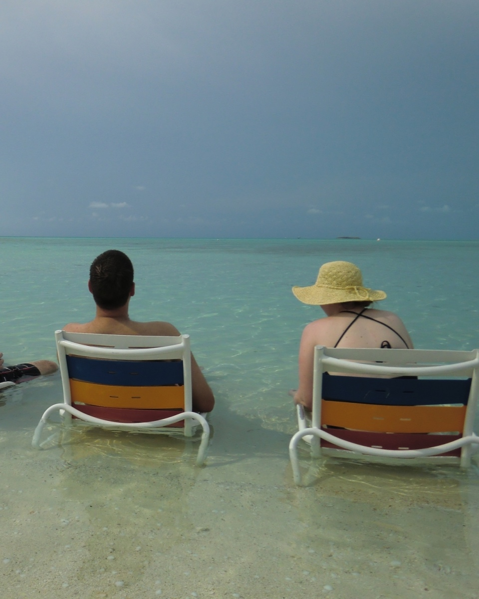 Enjoying Serenity Bay on Castaway Cay.