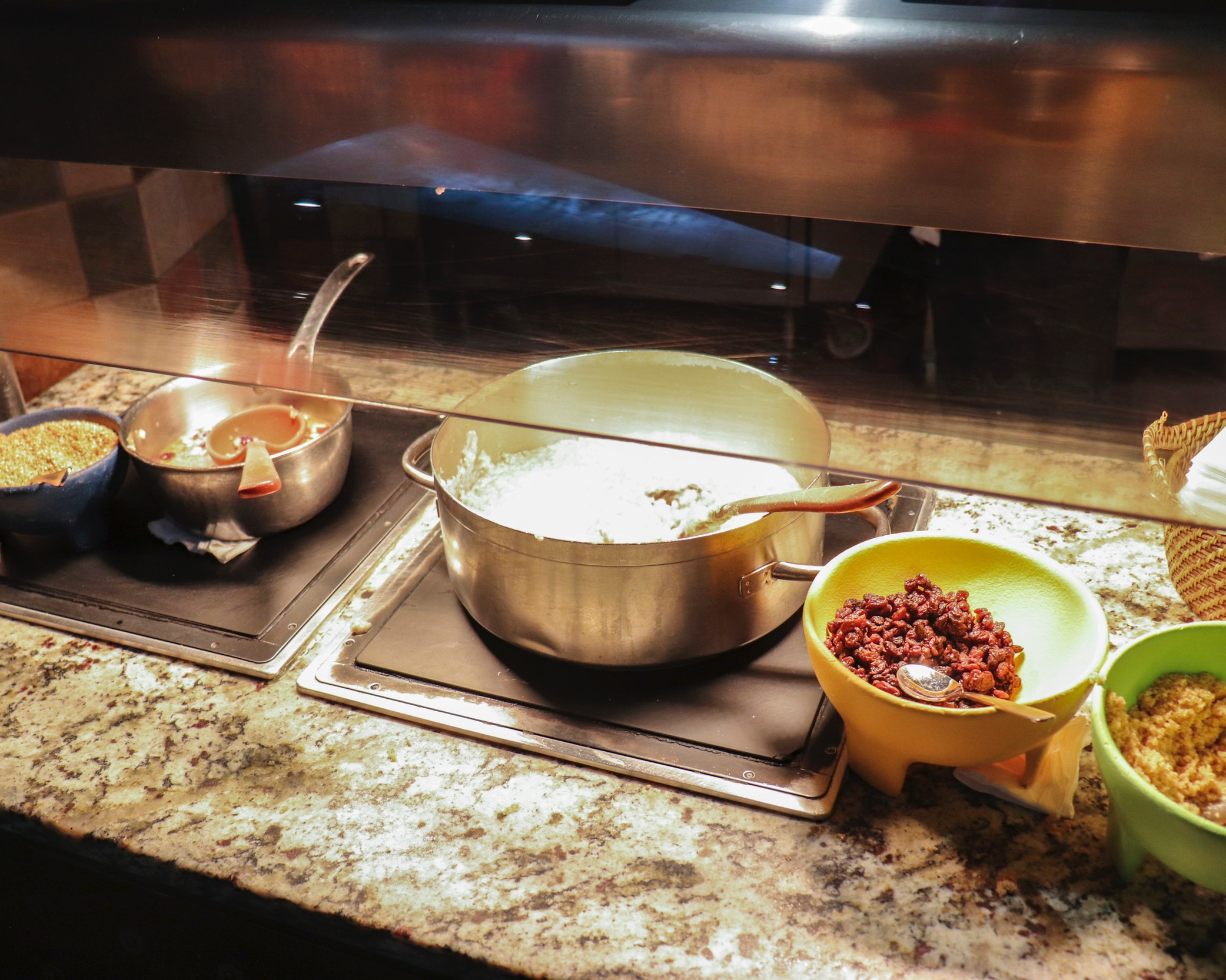Oatmeal, Quinoa, & toppings.