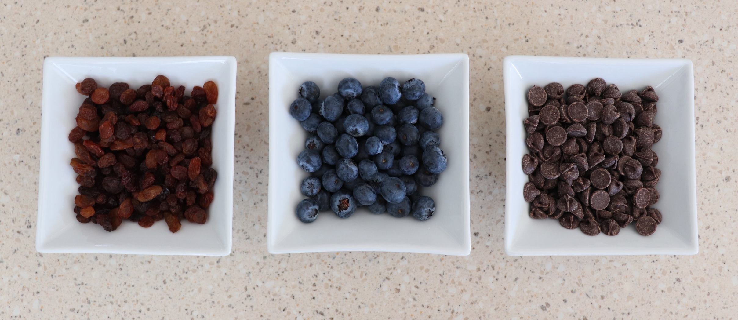 In addition to the golden raisins we tried blueberries and chocolate chips as well.