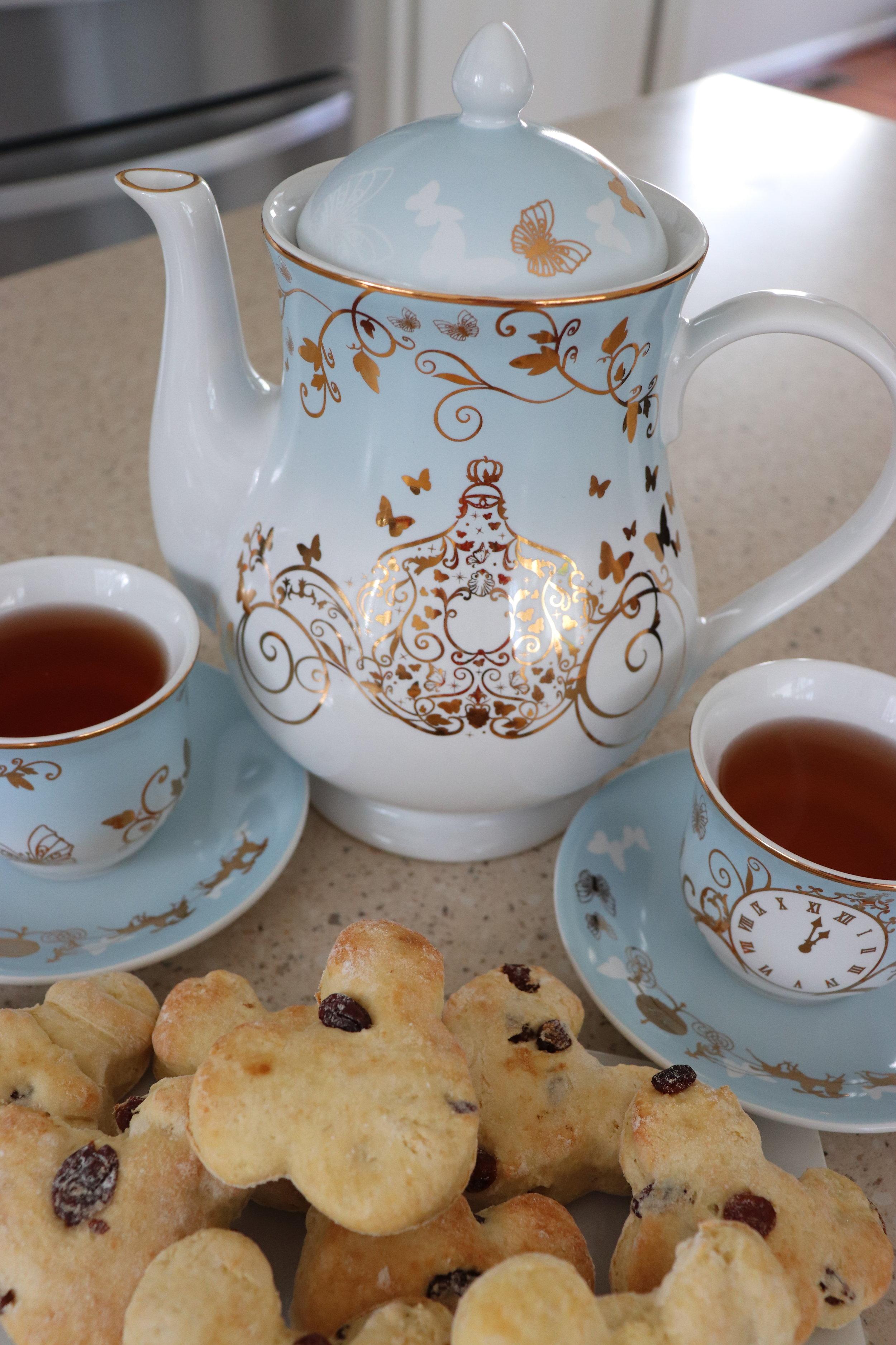 Julie's beautiful Cinderella tea set.