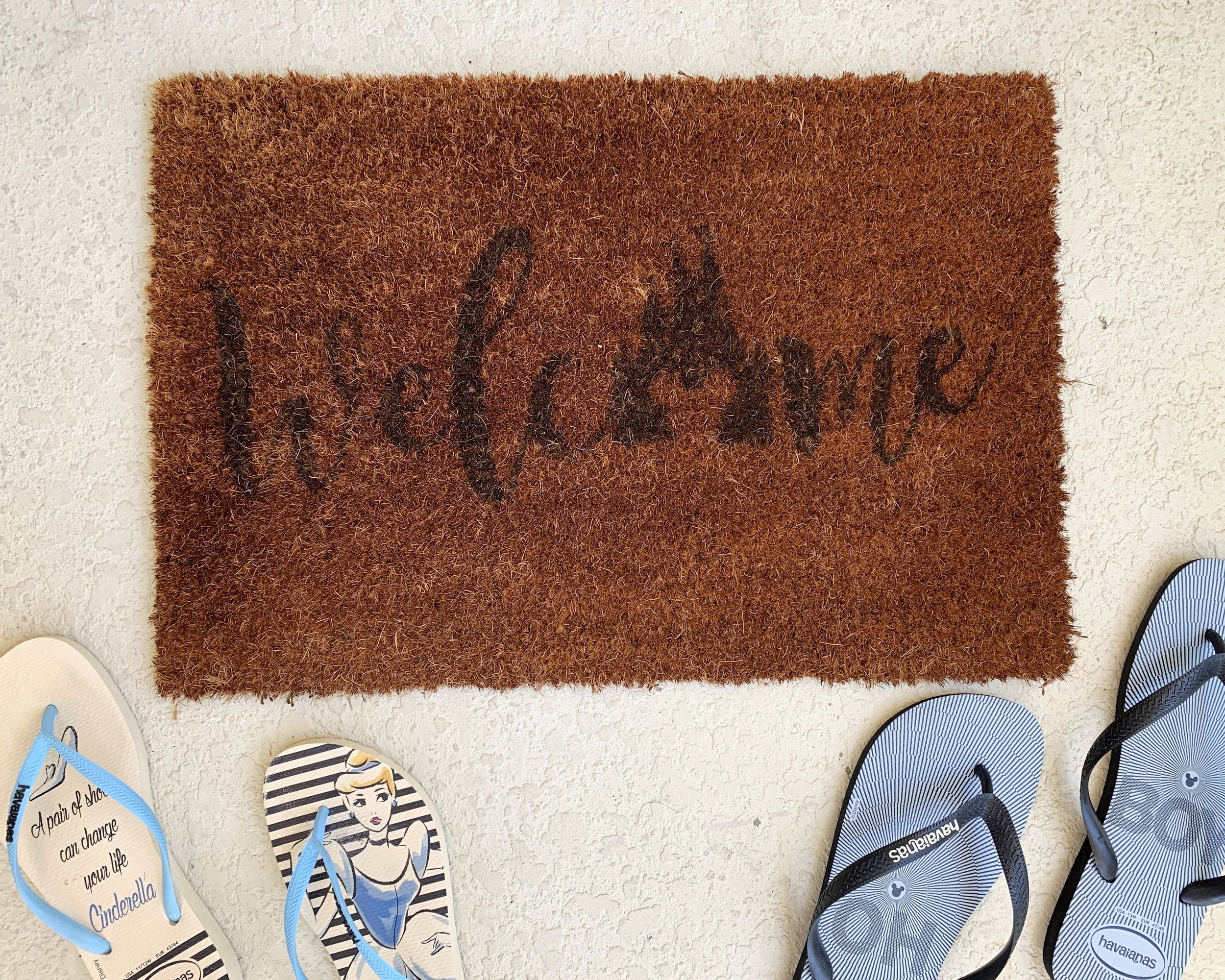 Check out the perfect door mat our MD realtor Signe gifted us!