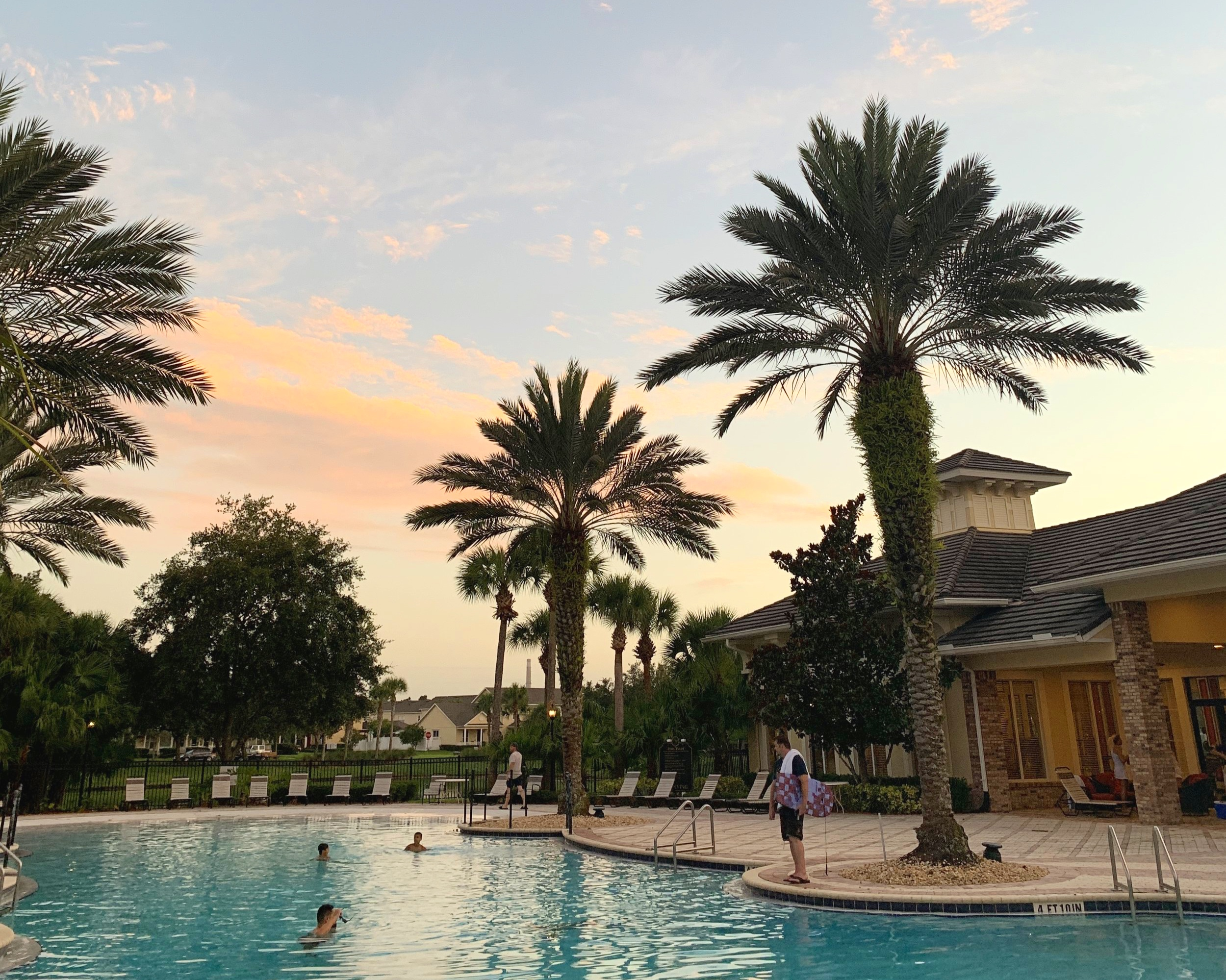 Our neighborhood has an amazing pool just a short walk away. Seriously pinch us…