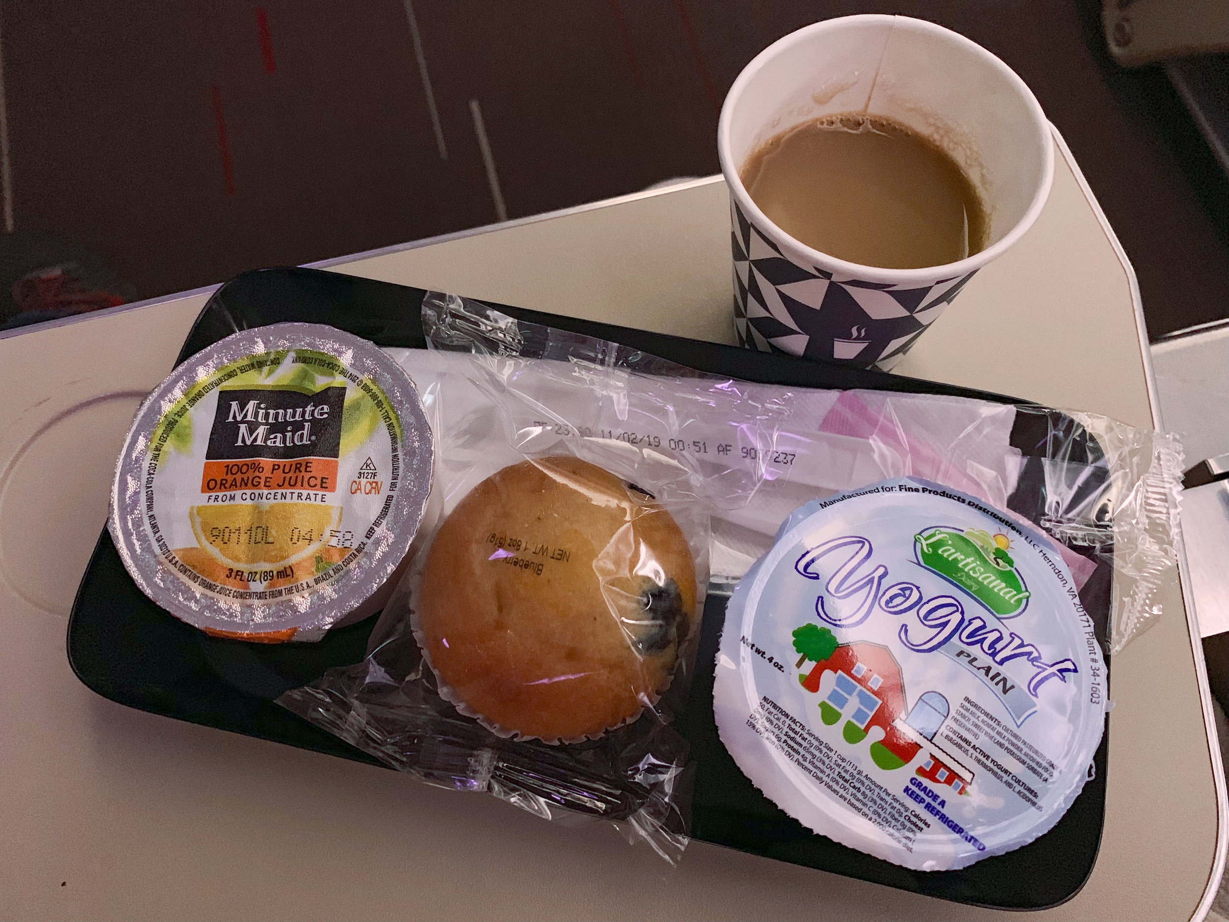 The light breakfast meal.