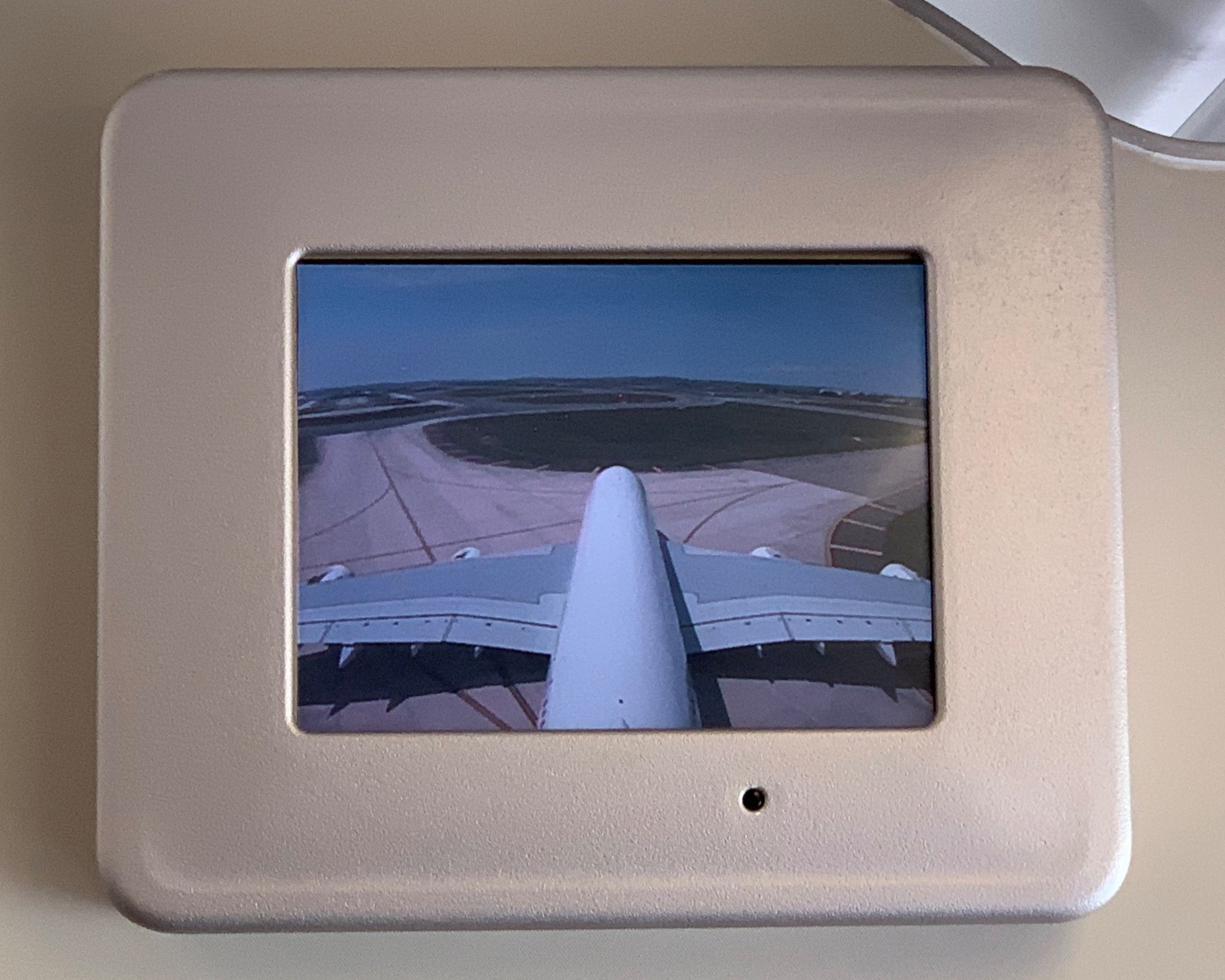 The view from the tail camera.