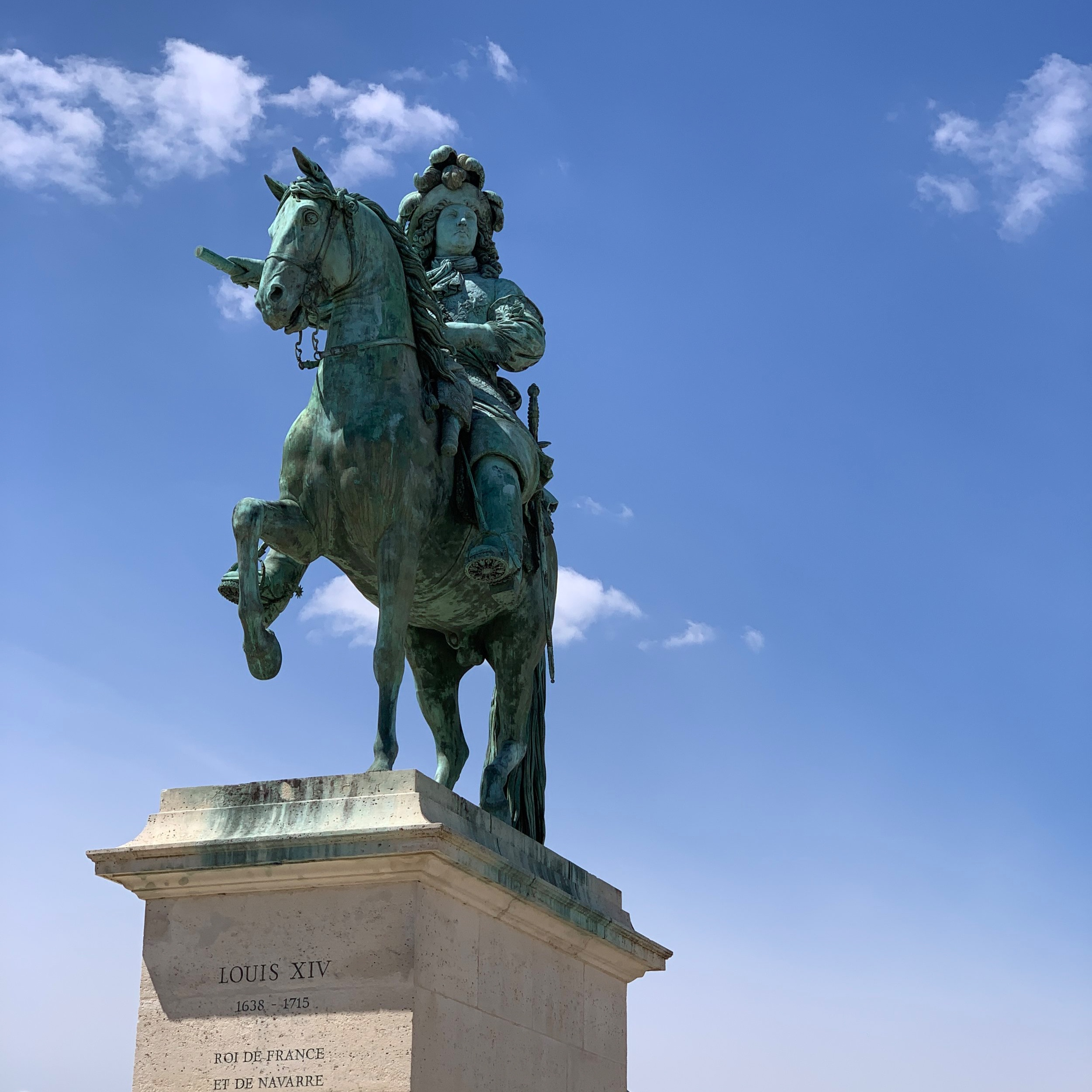 A statue of Louis the XIV.