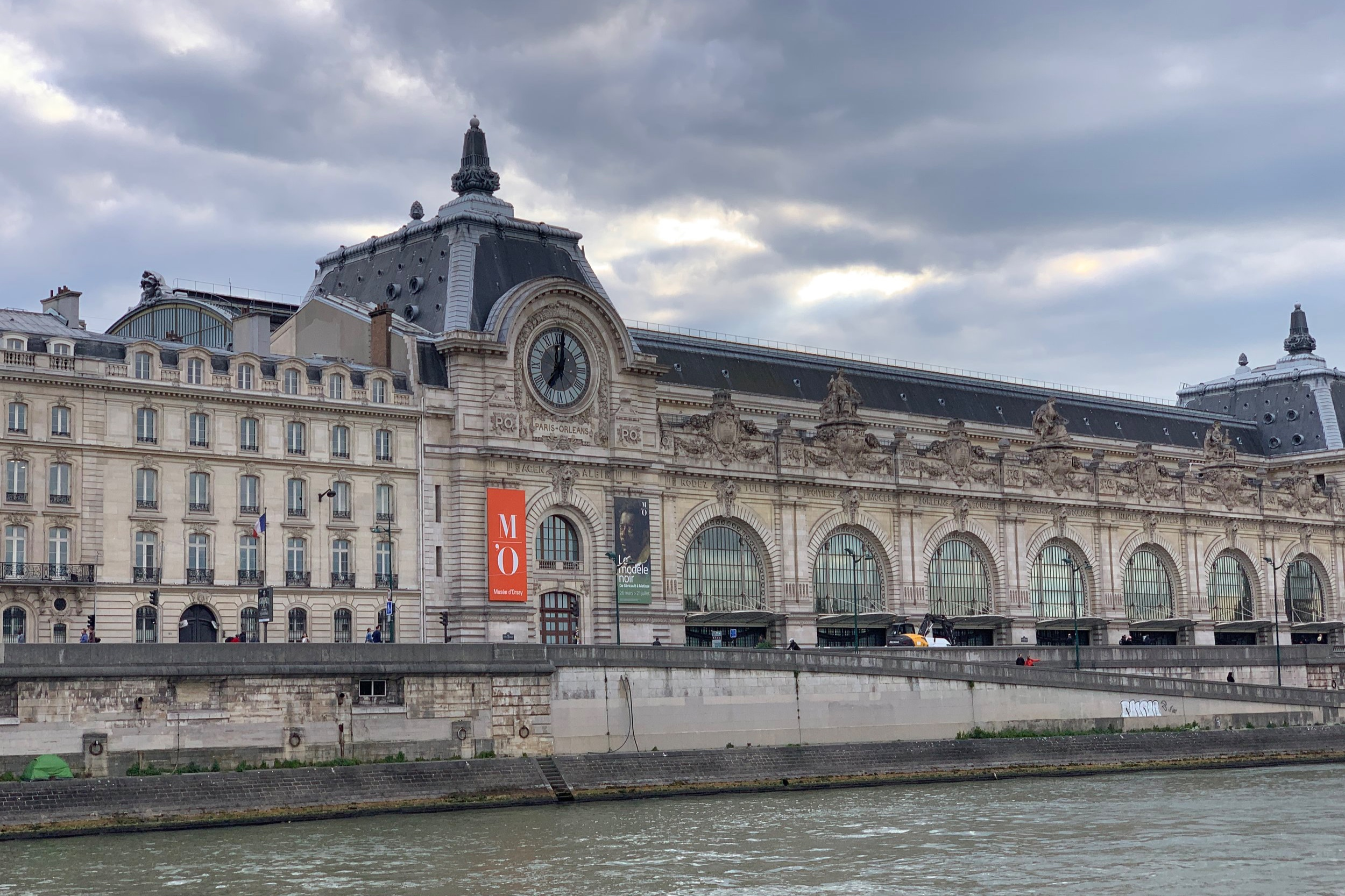 We got a good look at the Museum D'Orsay.