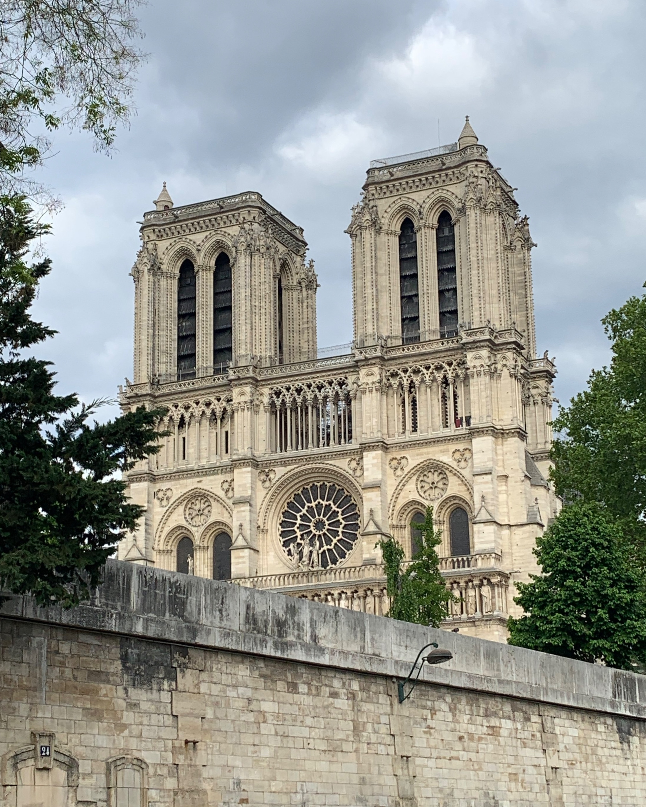 The closest we got to Notre Dame cathedral.