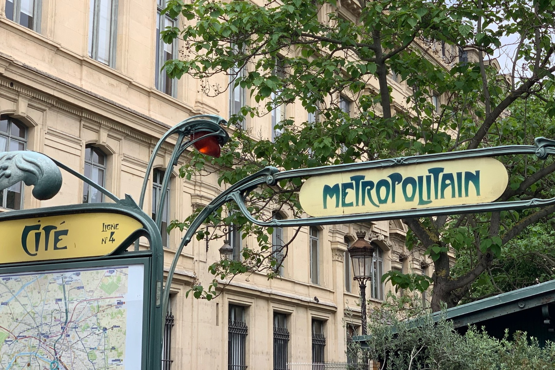 Some Art Nouveau style Metro signs.
