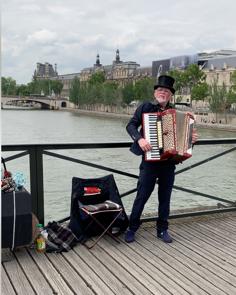 A talented accordion player.