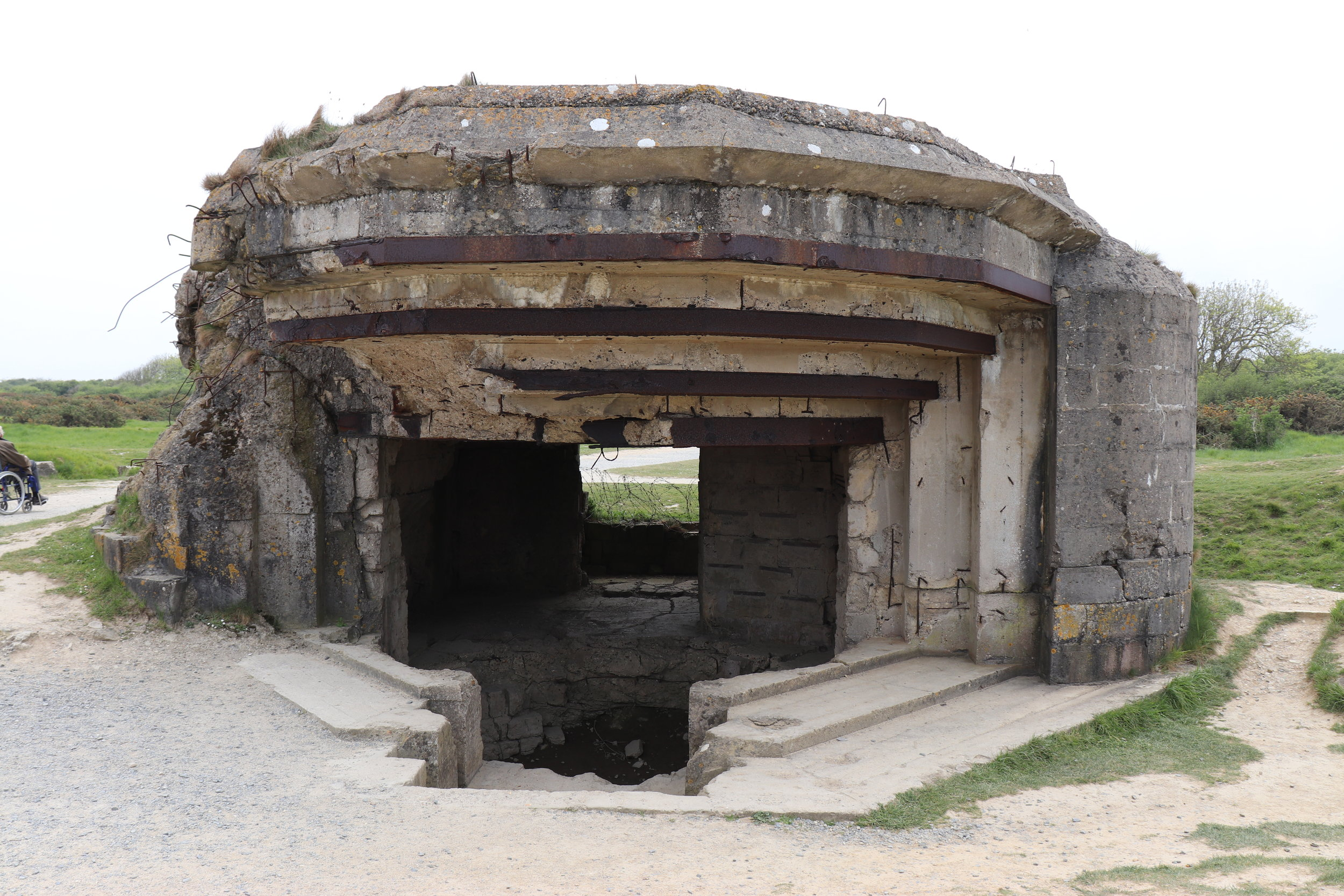 One of the many bunkers still standing.