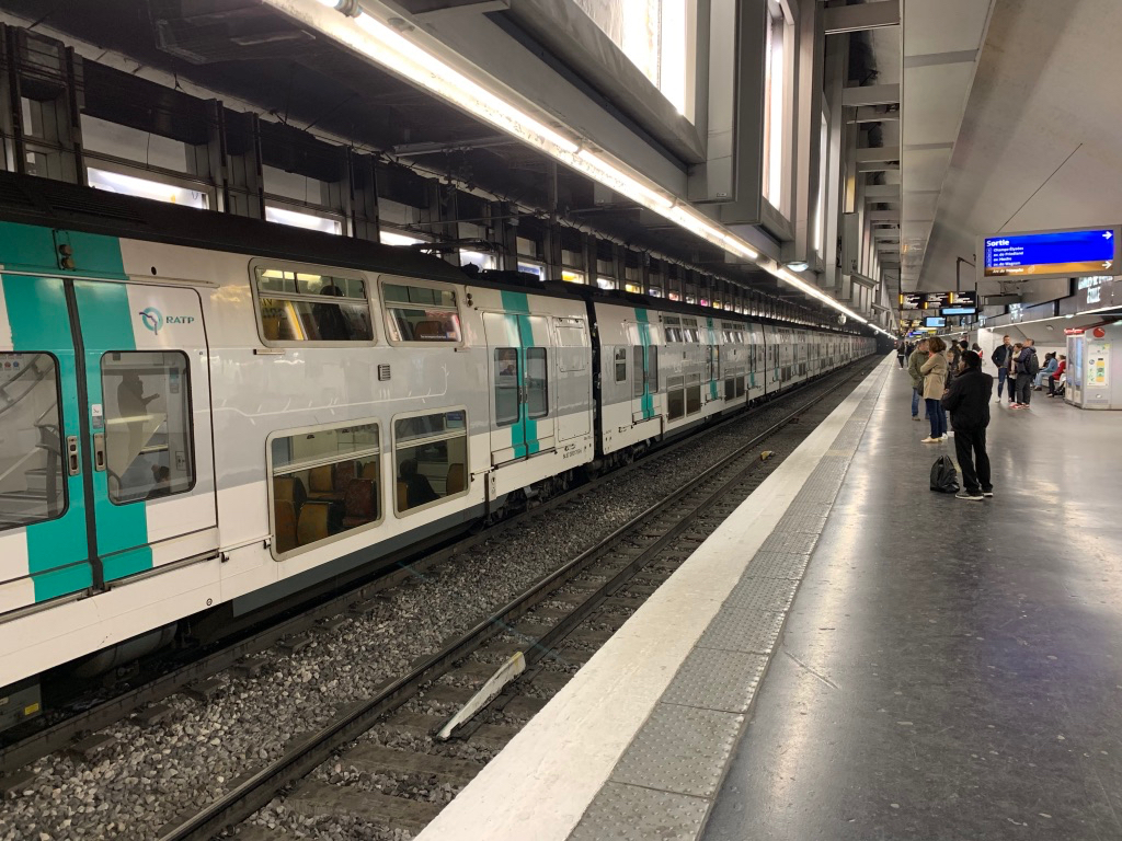 We were able to use the RER trains as well.