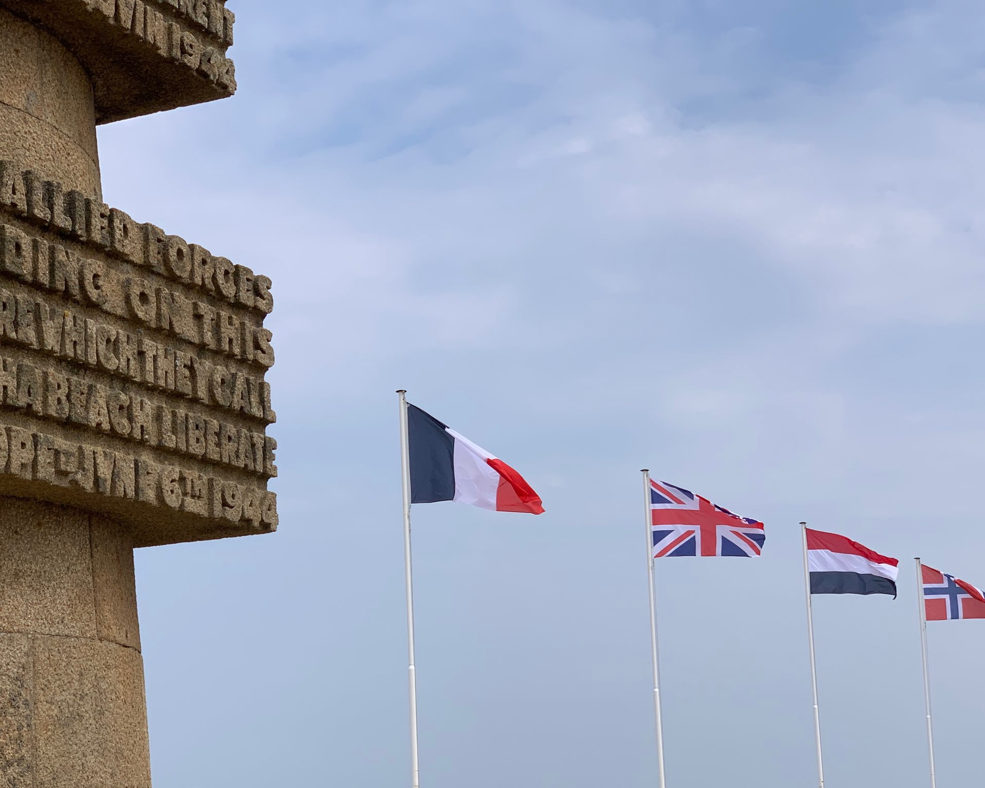 Some of the flags at the site.