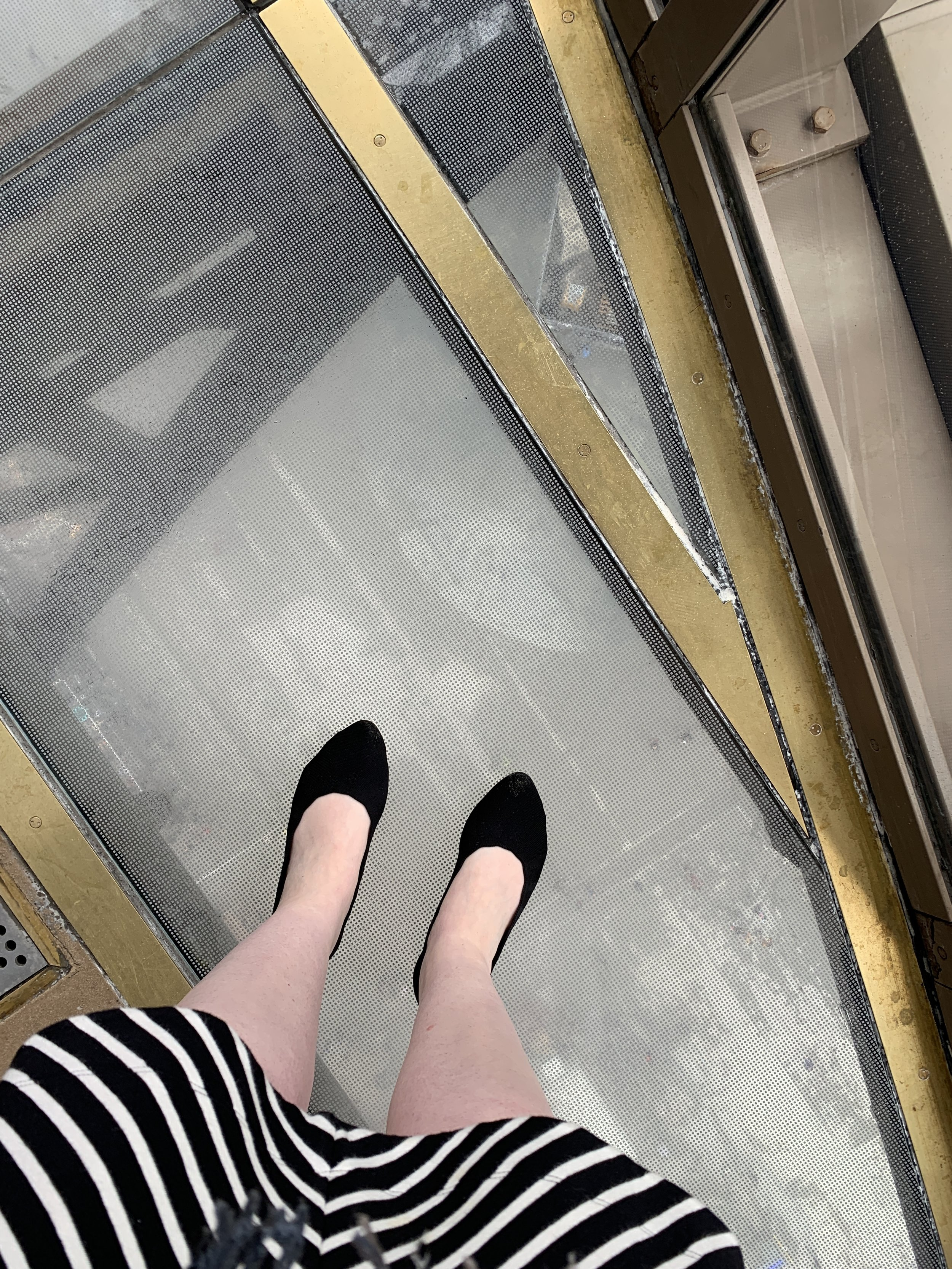 The glass floor was a little creepy to stand on.