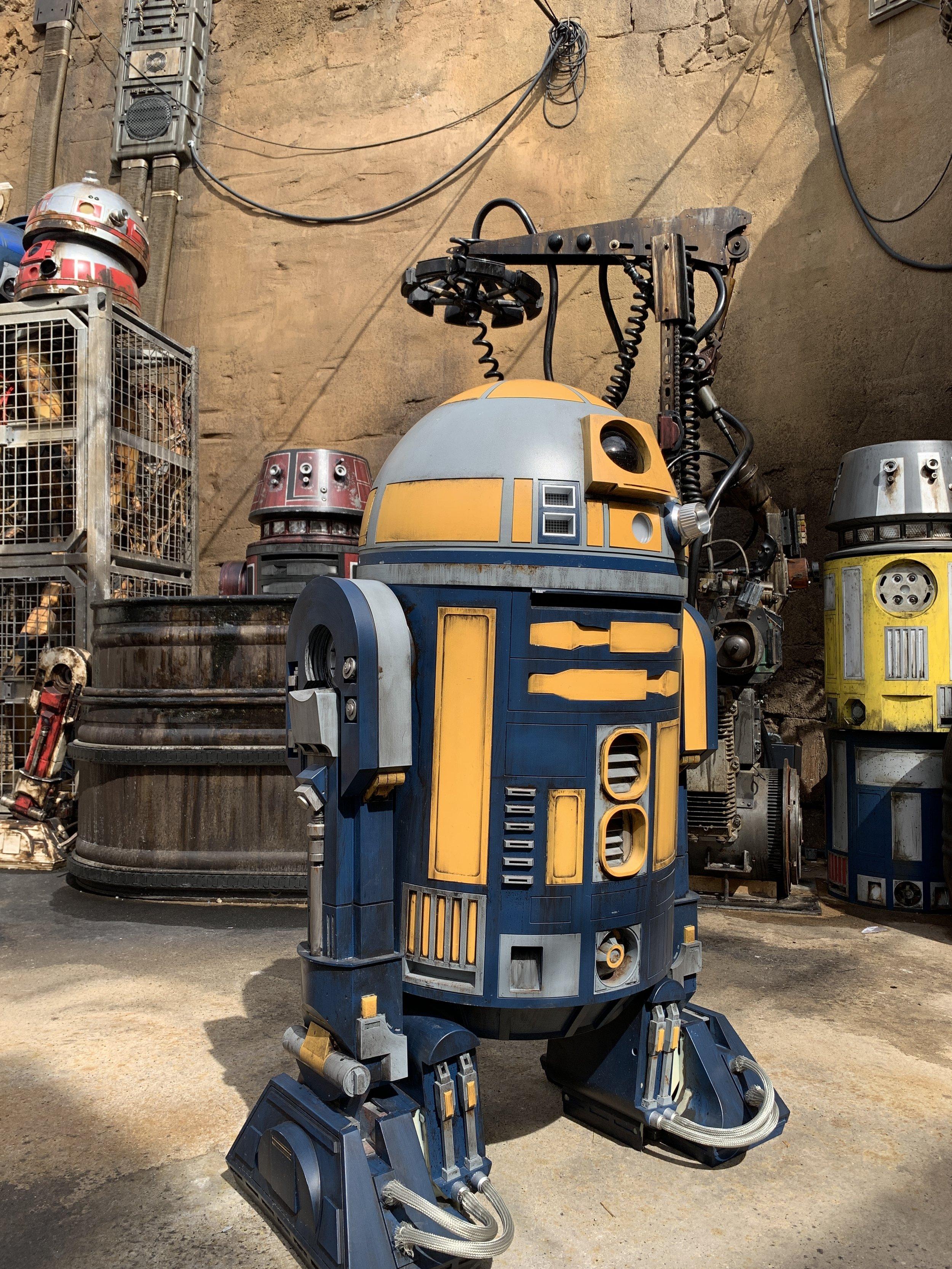 An assortment of droids near the depot.
