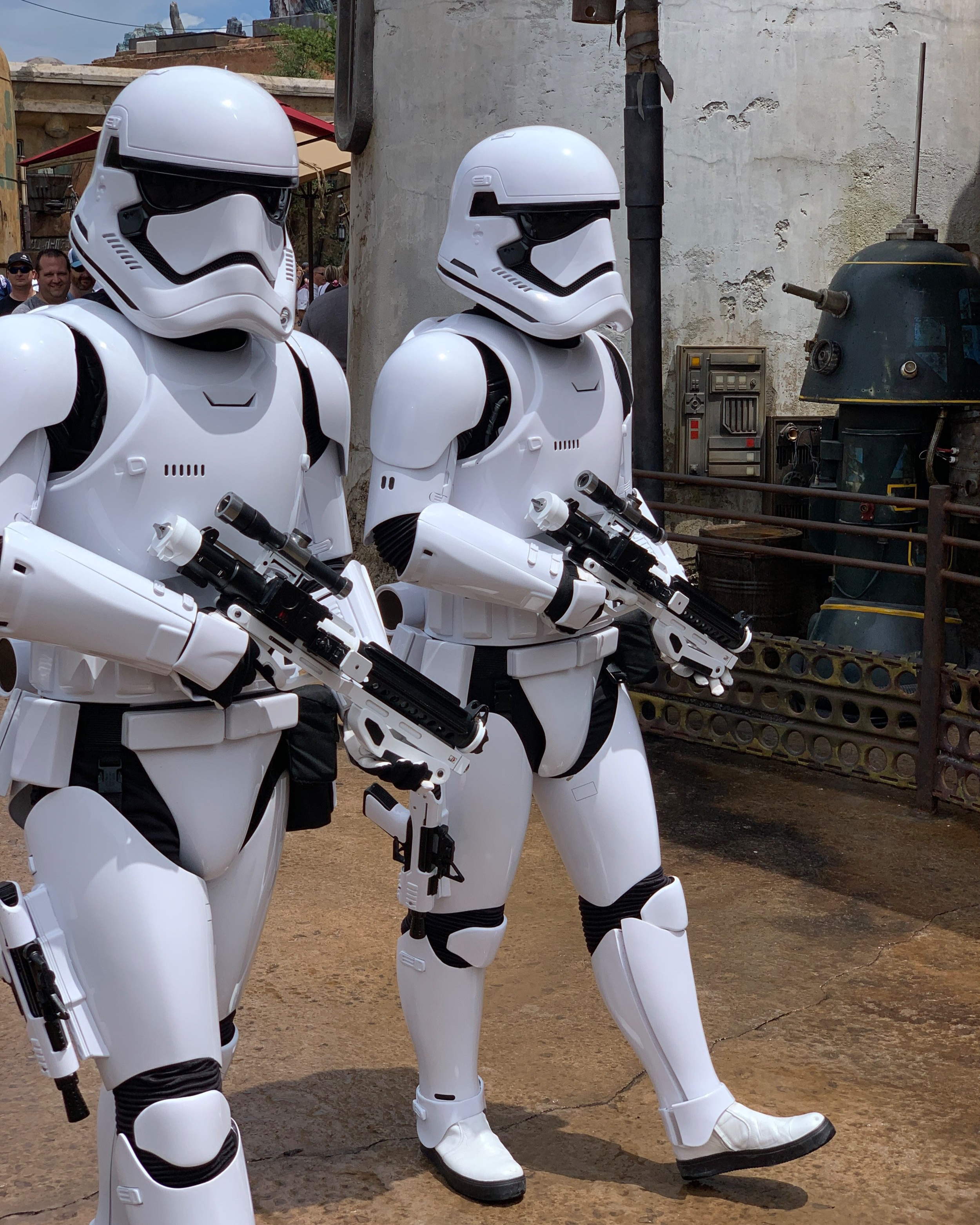 Roaming Storm Troopers were pretty much everywhere.