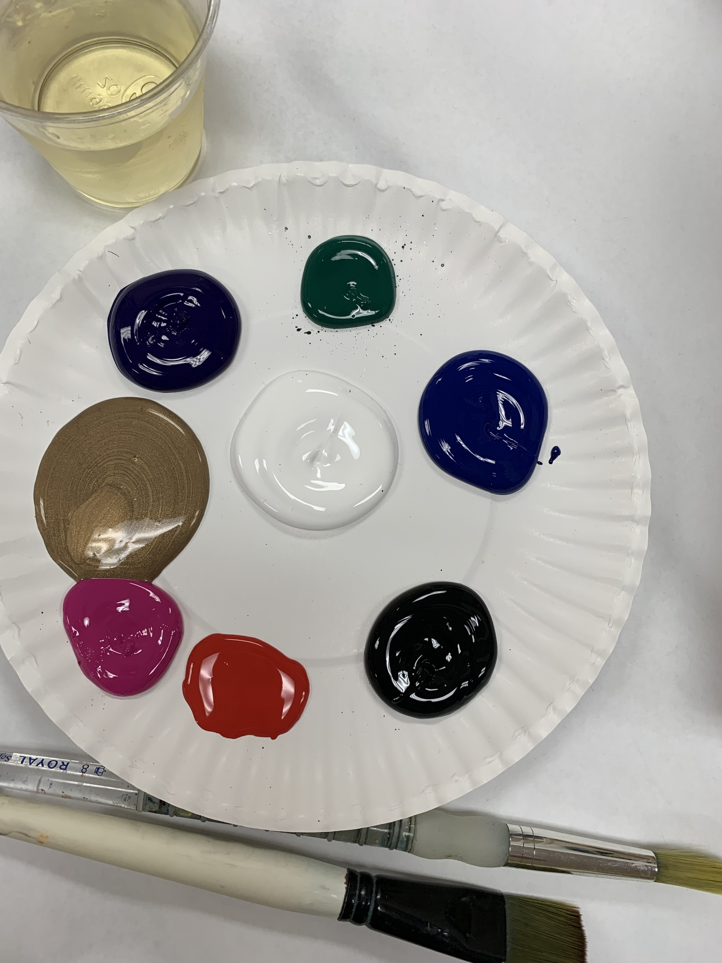 A paint palette ready to go!