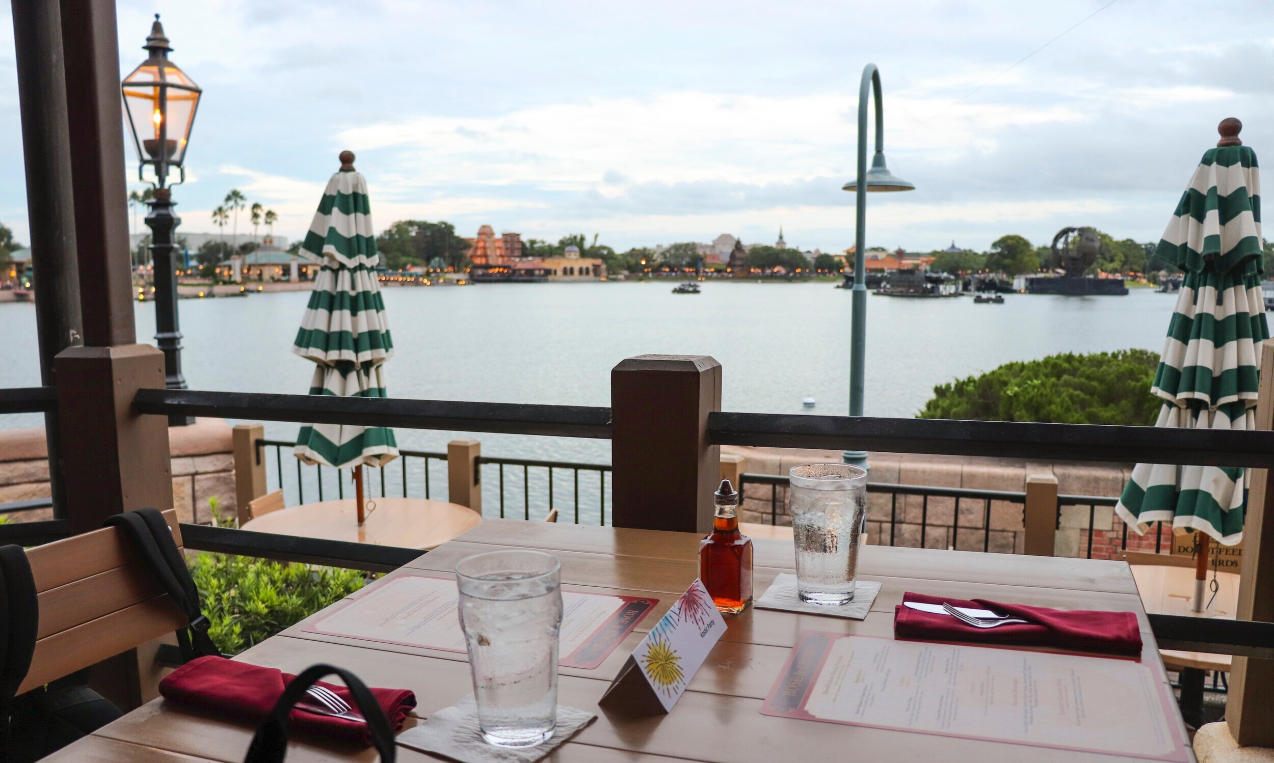 Our table for two with a great view.
