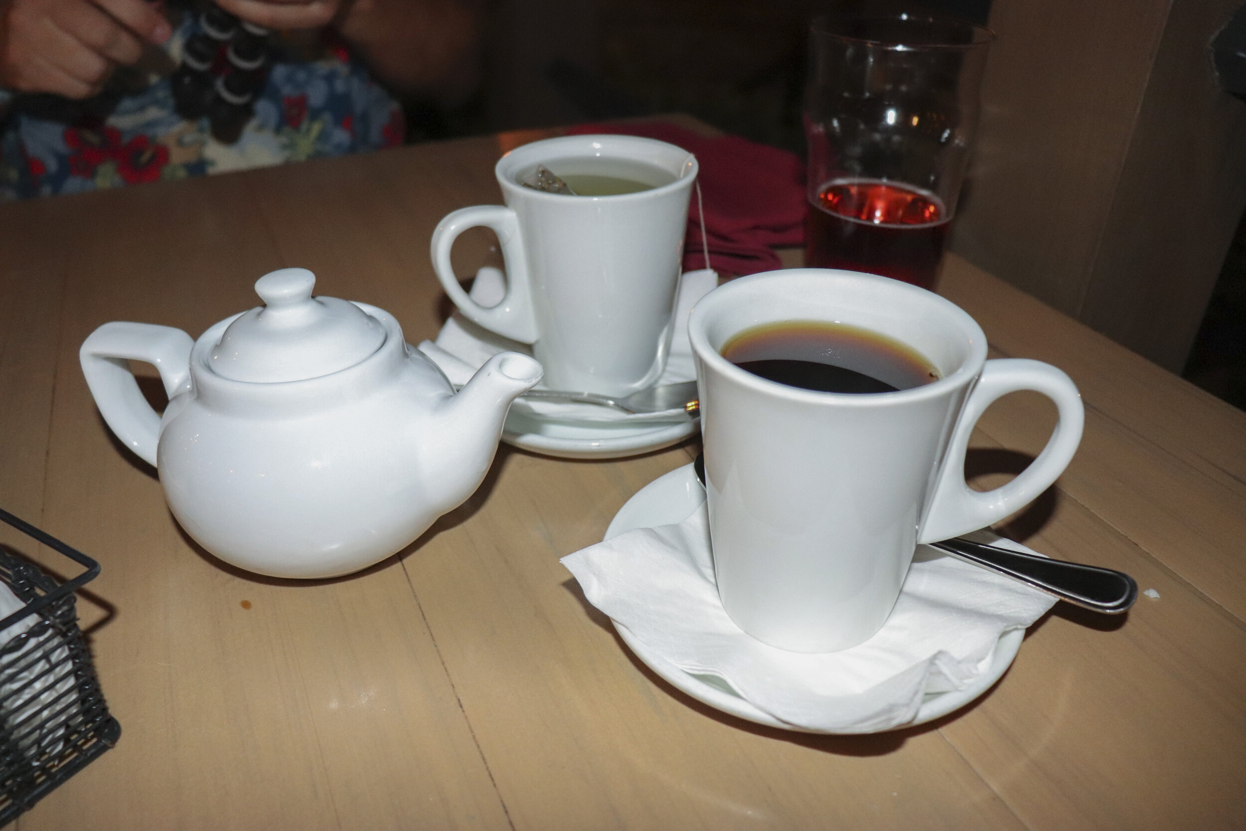 We loved finishing the meal with some coffee and tea.