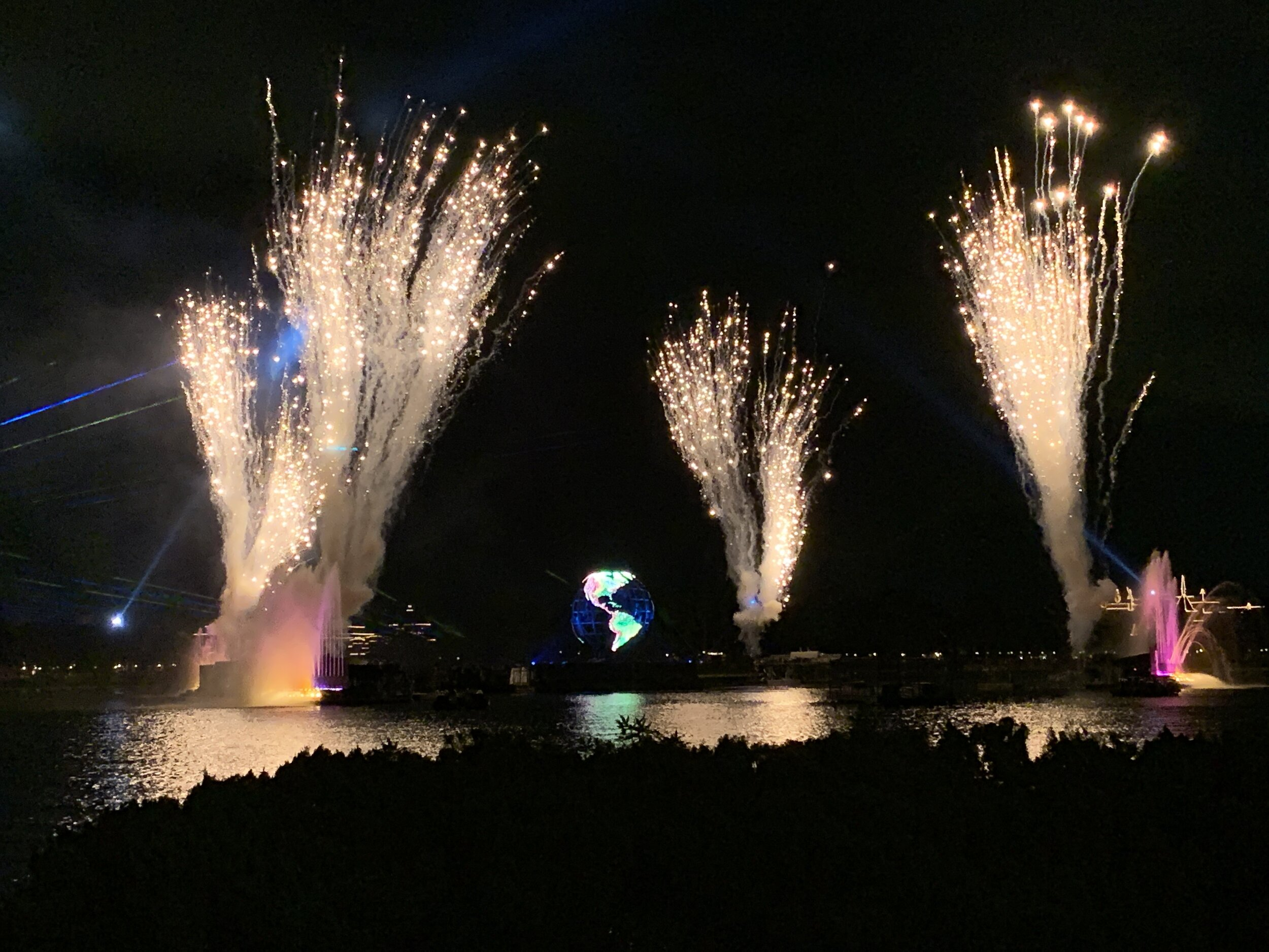 A glimpse of our view of Illuminations that night!