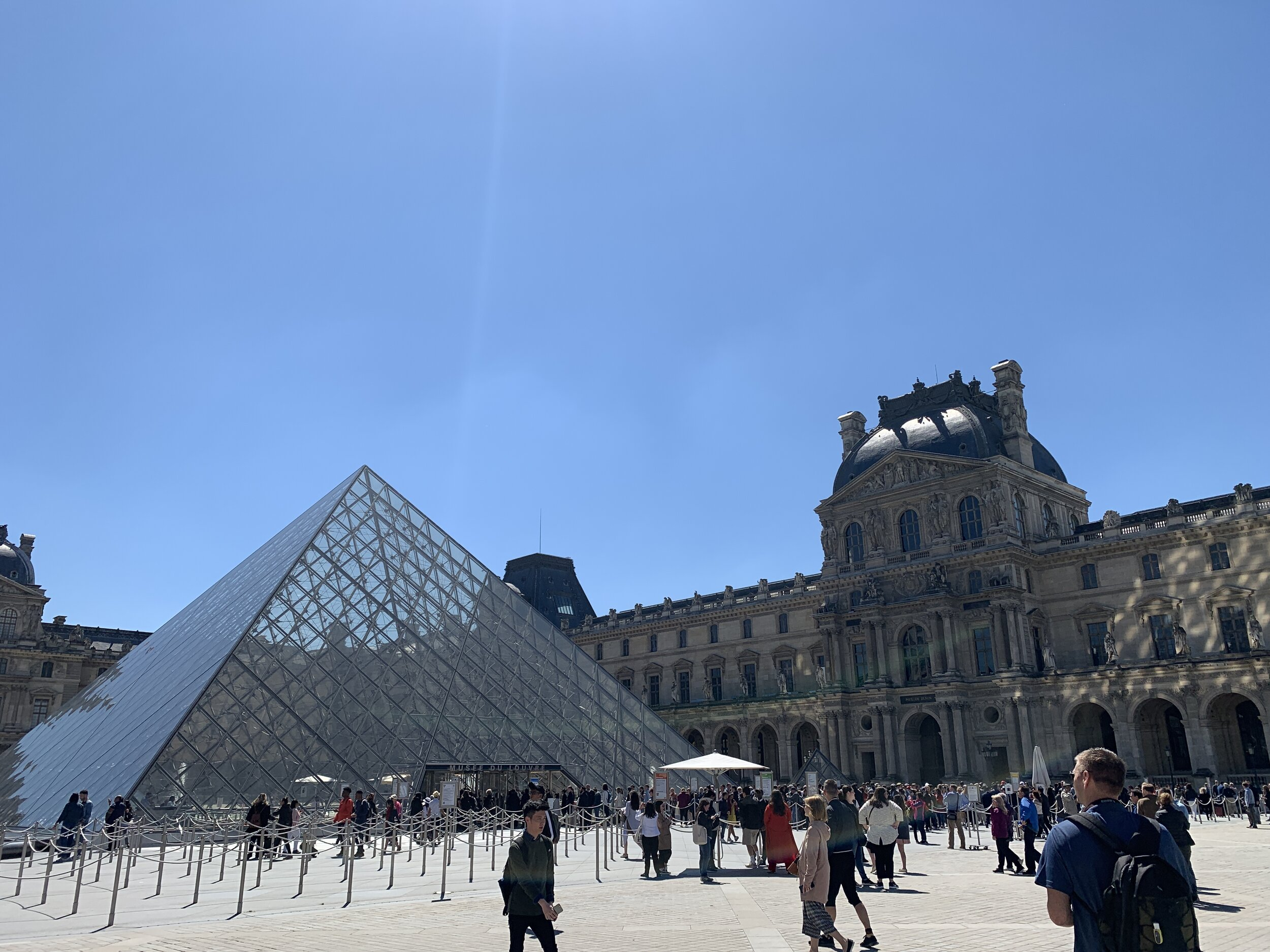 It was great to avoid the huge line outside of the Louvre.