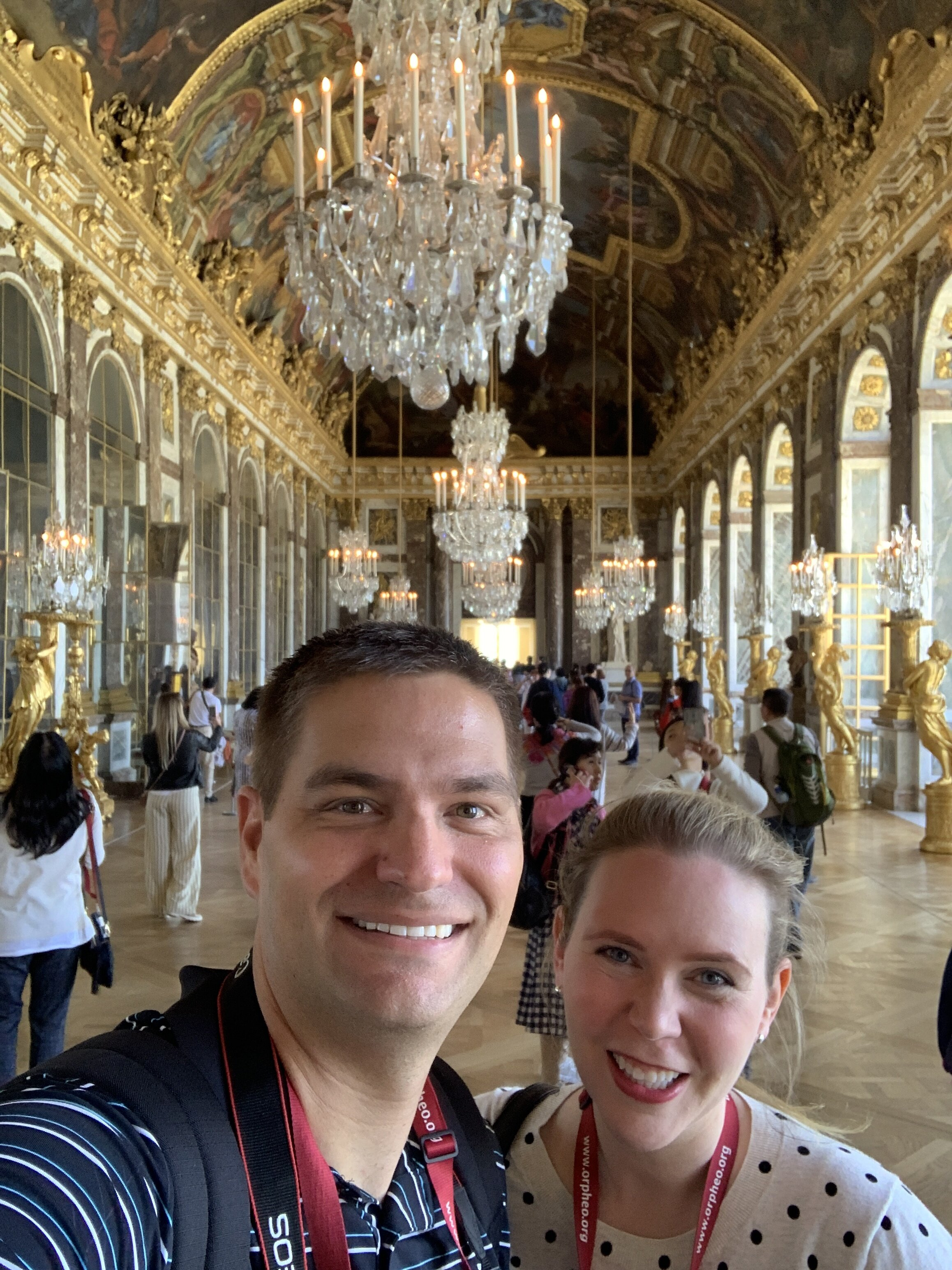 Even a visit to Versailles was included.