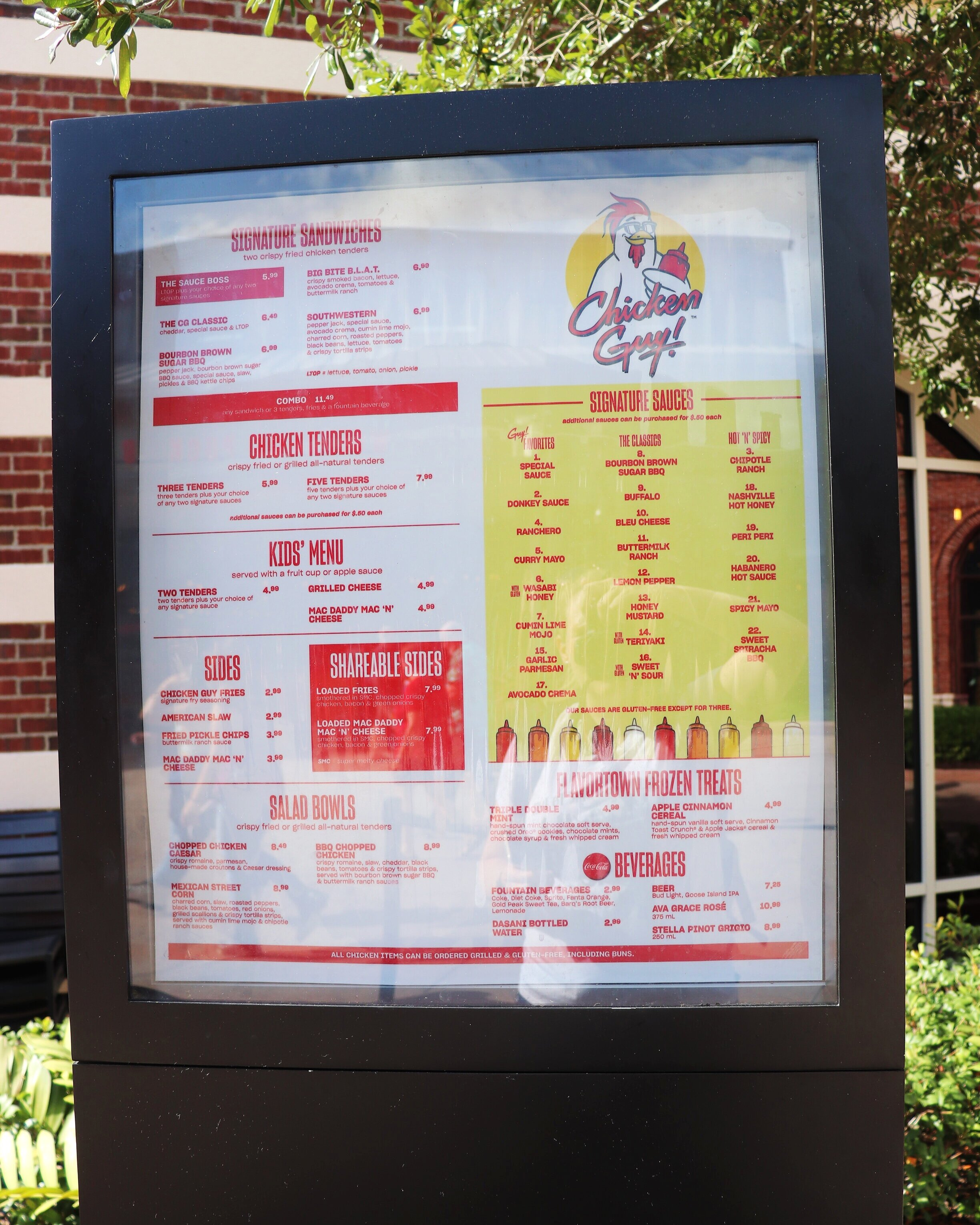 The menu isn't large but is full of flavor!