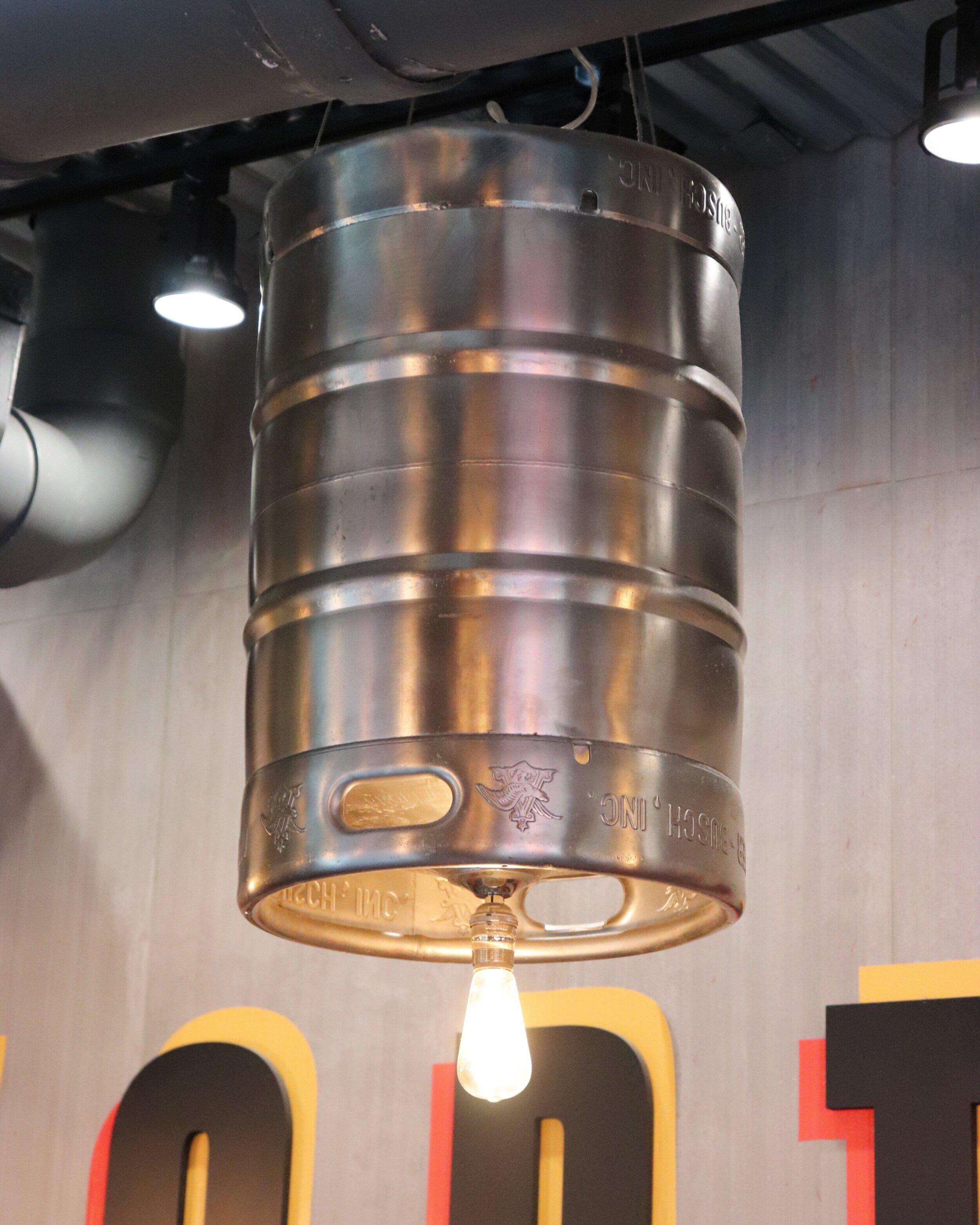 A cool keg lamp.