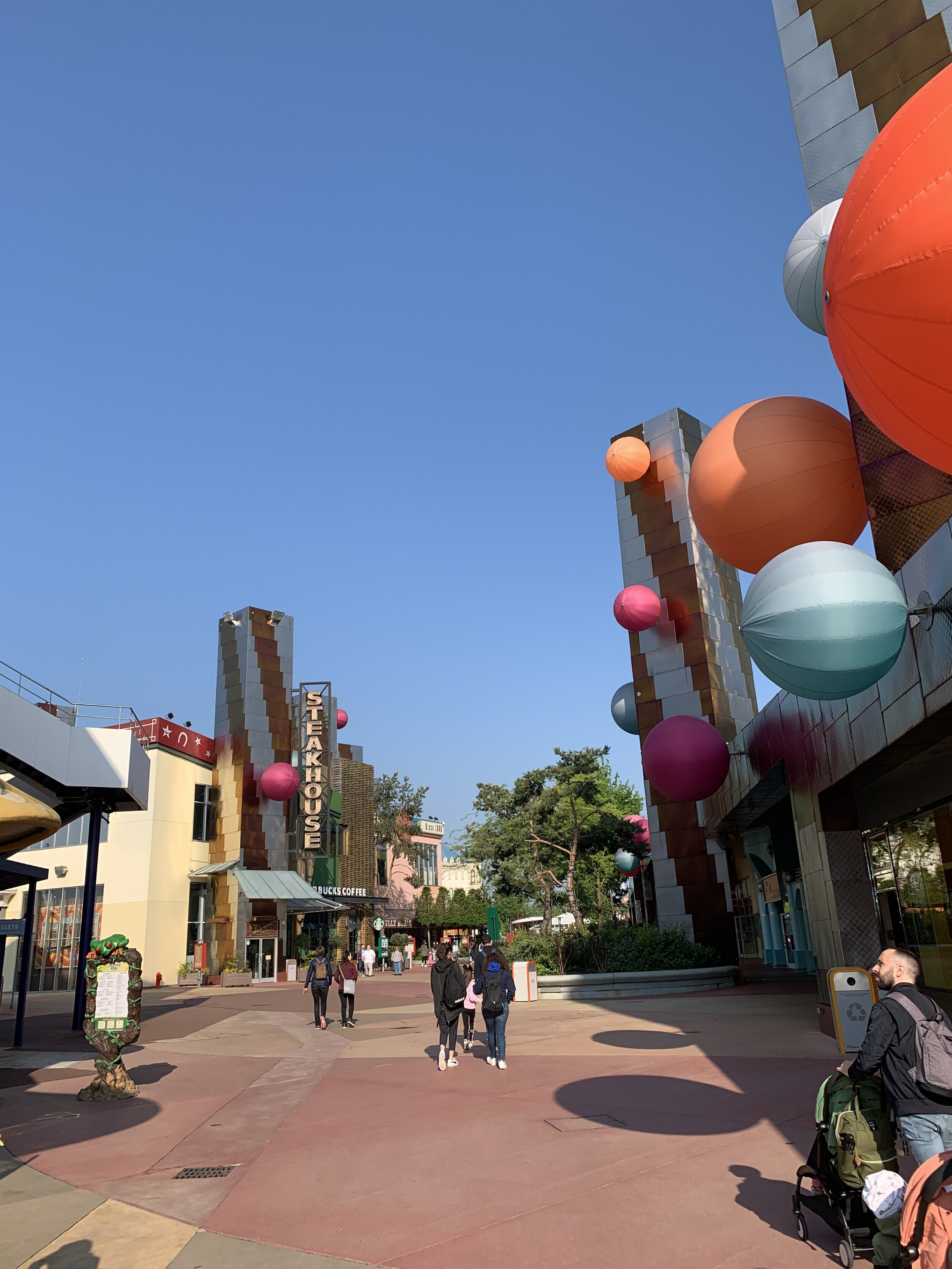 Disney Village is pretty quiet in the mornings.