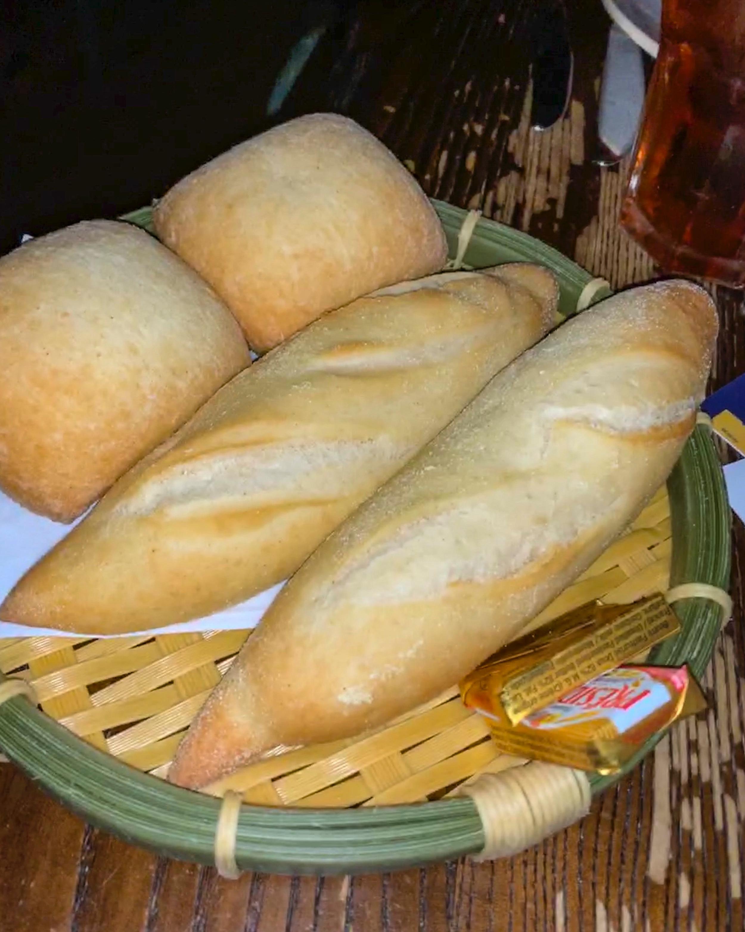 The bread service.