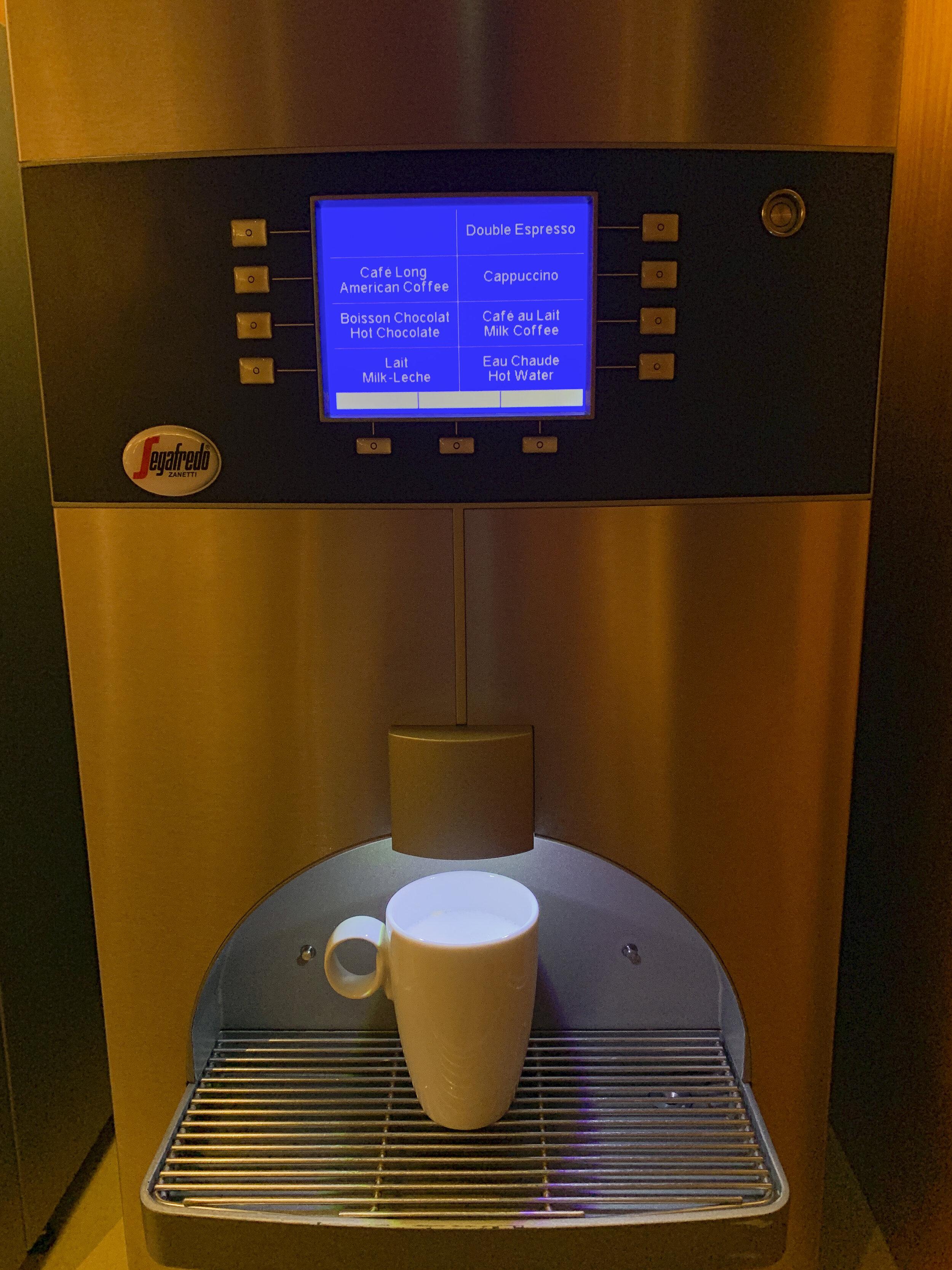 The coffee machine was really good.