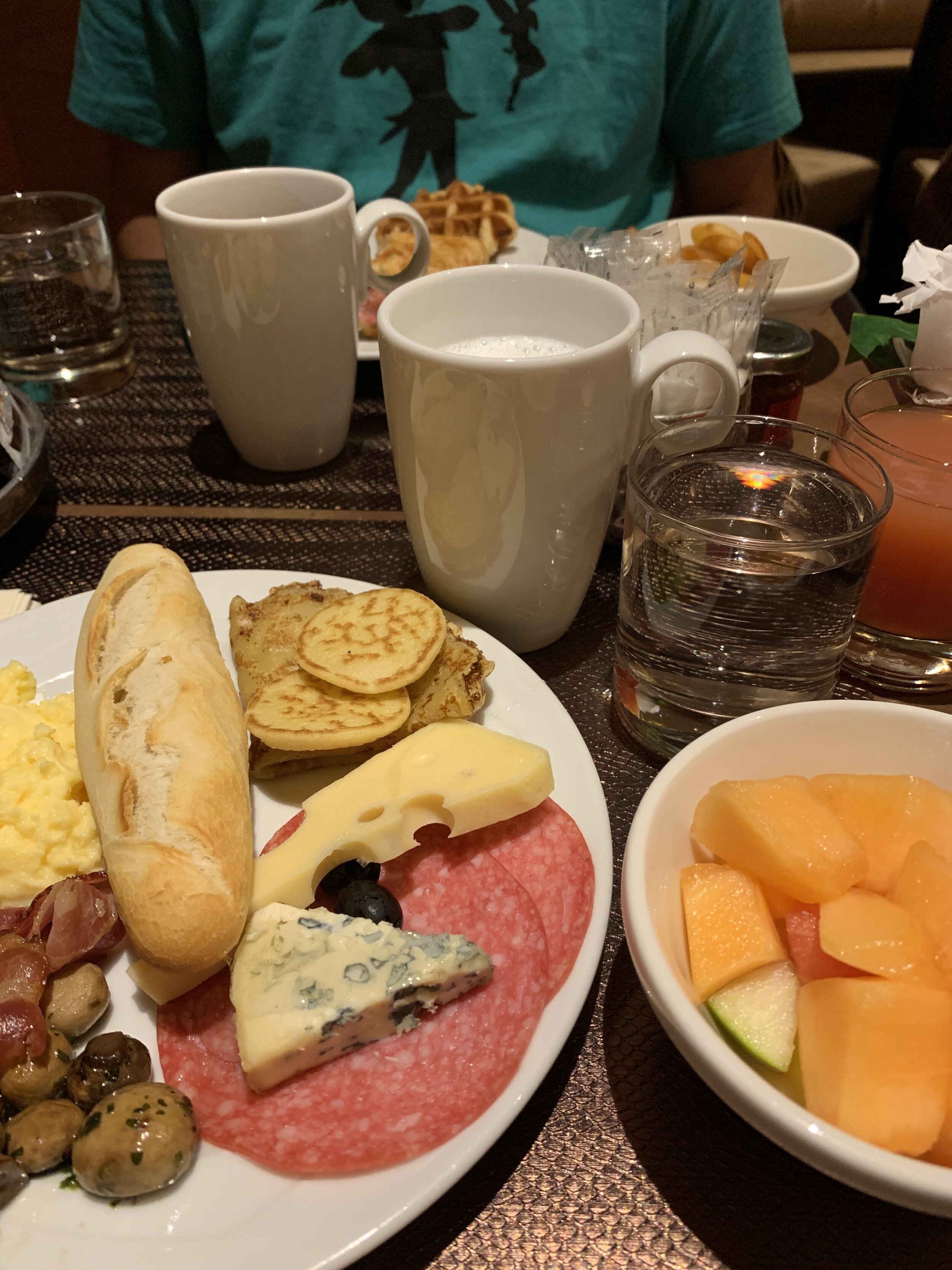 A view of our great breakfast spread!