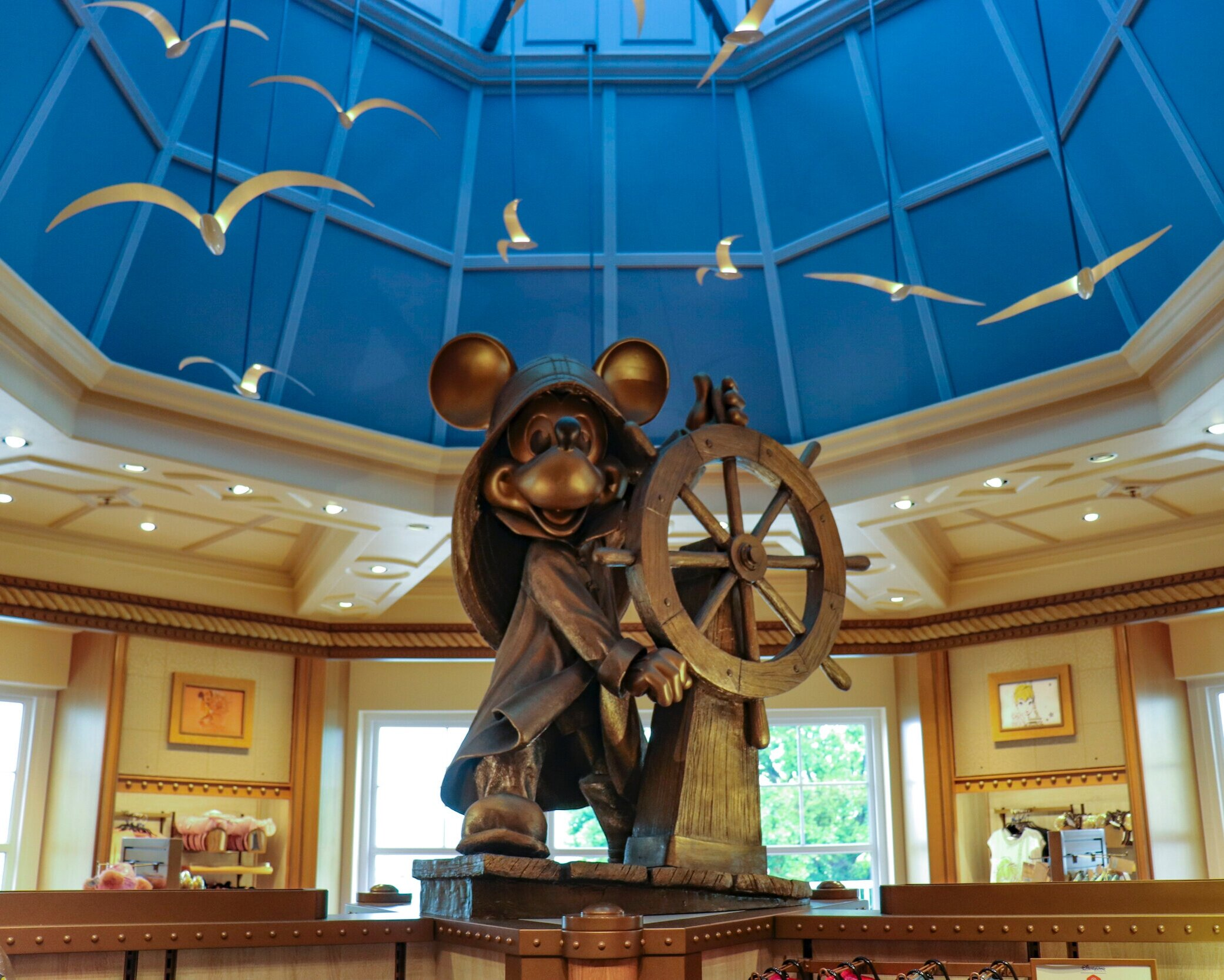 A Mickey statue in the gift shop.