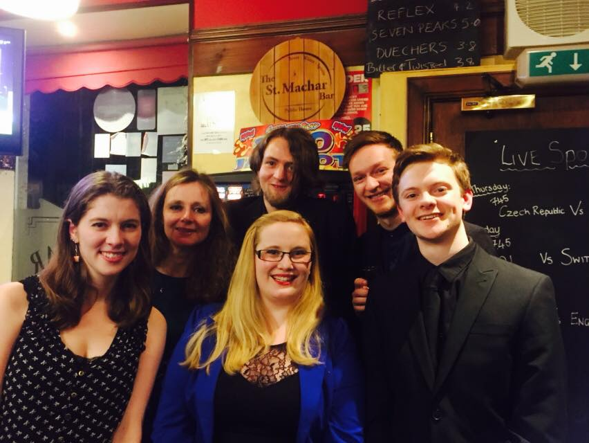With the finalists for the Carlaw Ogston Composition Competition, 2016.
