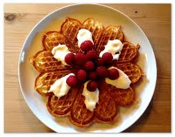 Traditional Norwegian heart waffles.