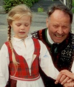 Hans with grandDAUGHTER in Ballard, 17th of May