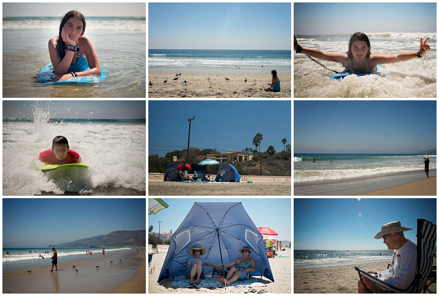 Zuma Beach is perhaps beach perfection. Huge waves, soft sand, clear water, lots of sunshine. What more can you want in a beach day?