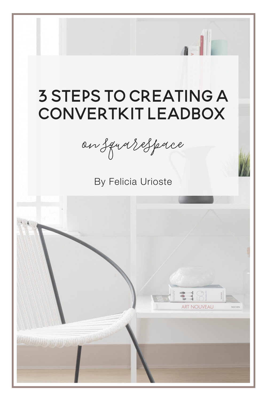 Add a convertkit leadbox to Squarespace