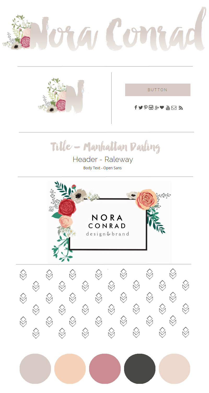My first brand board when I launched Nora Conrad