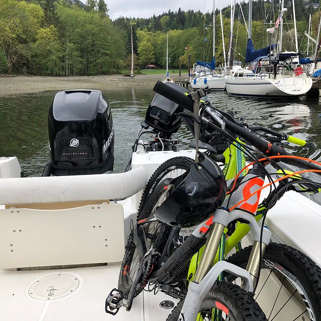 Scouting Islands and Inlets on the coast.  An awesome Sunday with @alternafilms #production #locationscouting #nobaddays #westcoastbestcoast #hellobc #beautifulbc #bowen #scott #howesound #westvancouver #biking #awesome