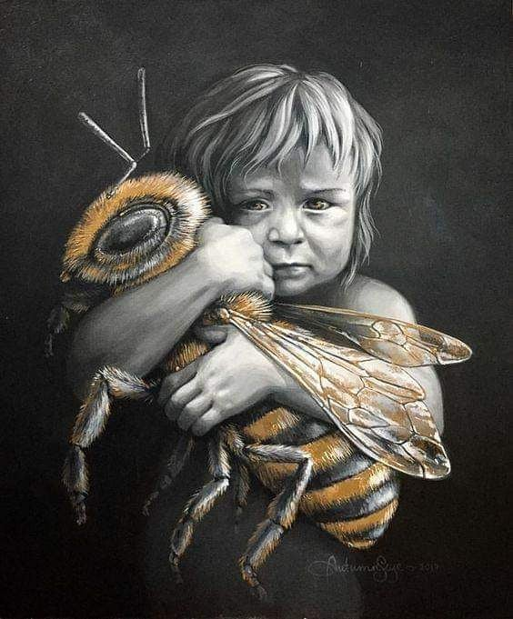 Save the bees... Credit: Autumn Skye ART