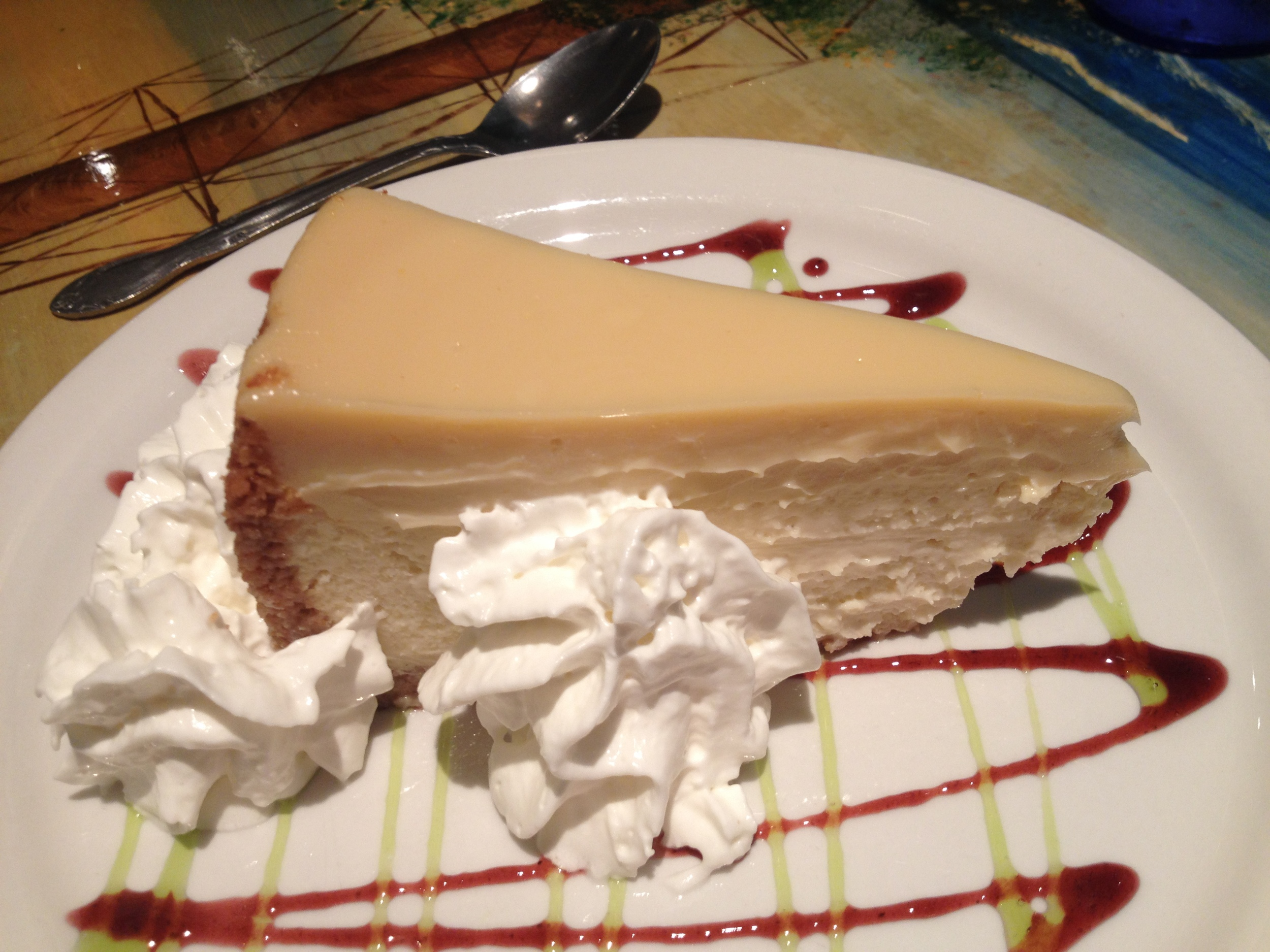 Double layer key lime cheesecake