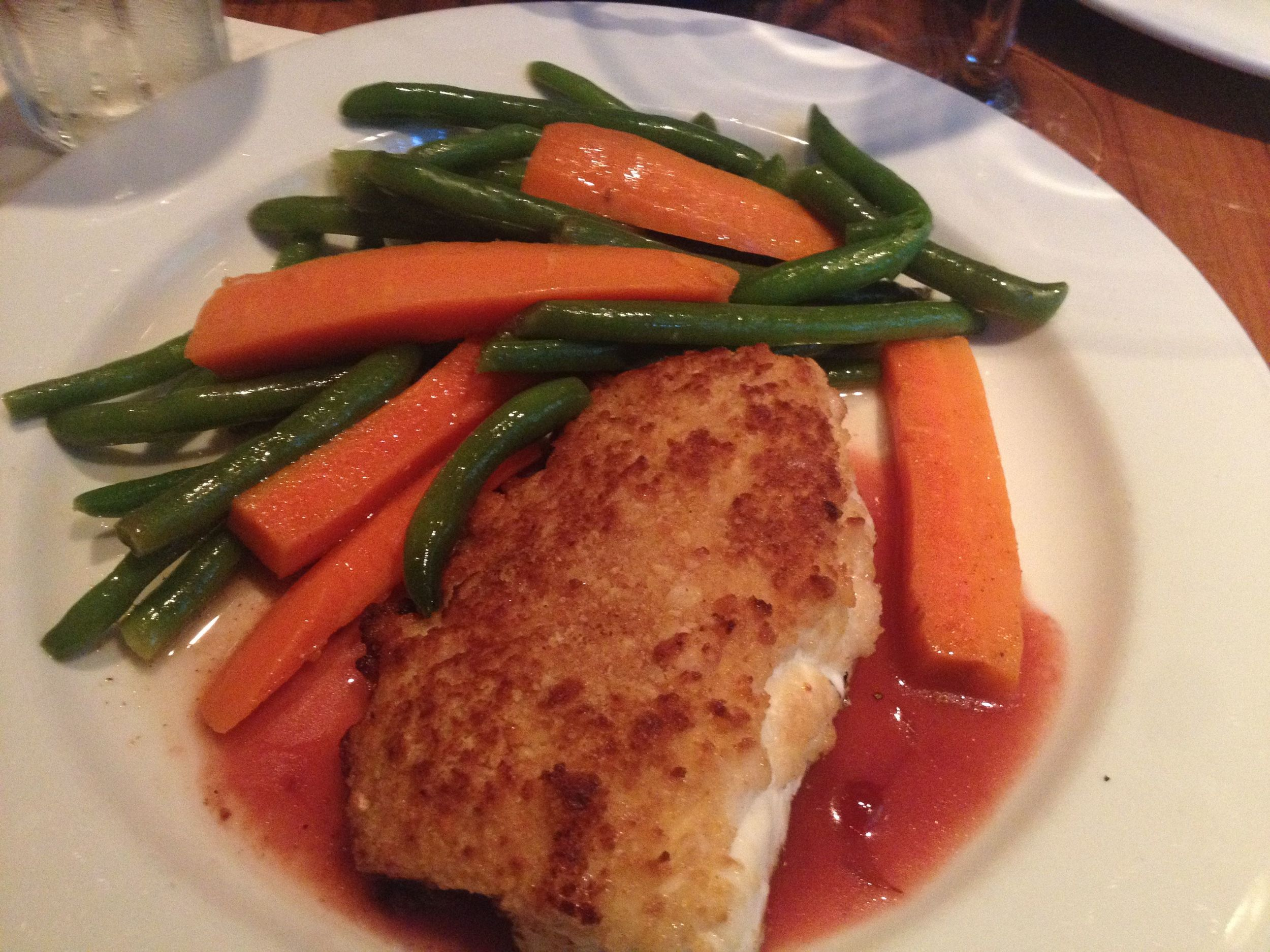Grouper with plum sauce