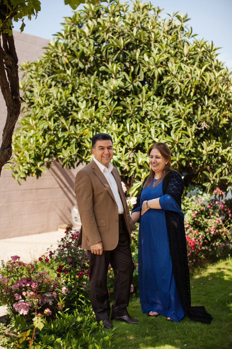 Mayor Krmanj of Soran, Iraqi Kurdistan with his wife in their garden (2016).