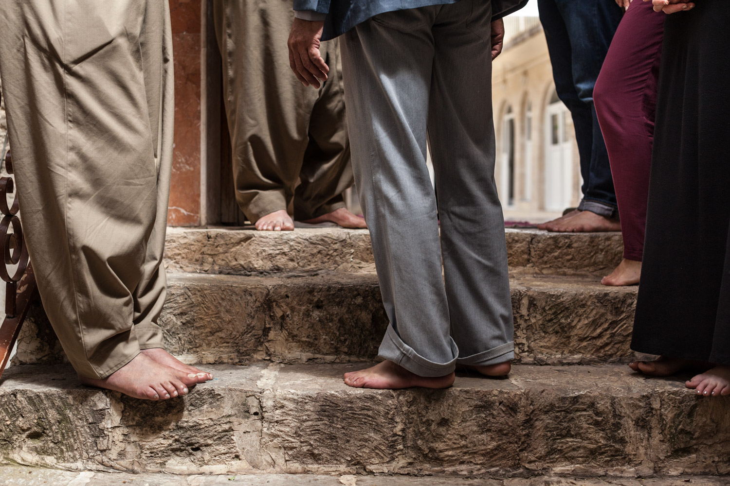 Barefoot at Lalish